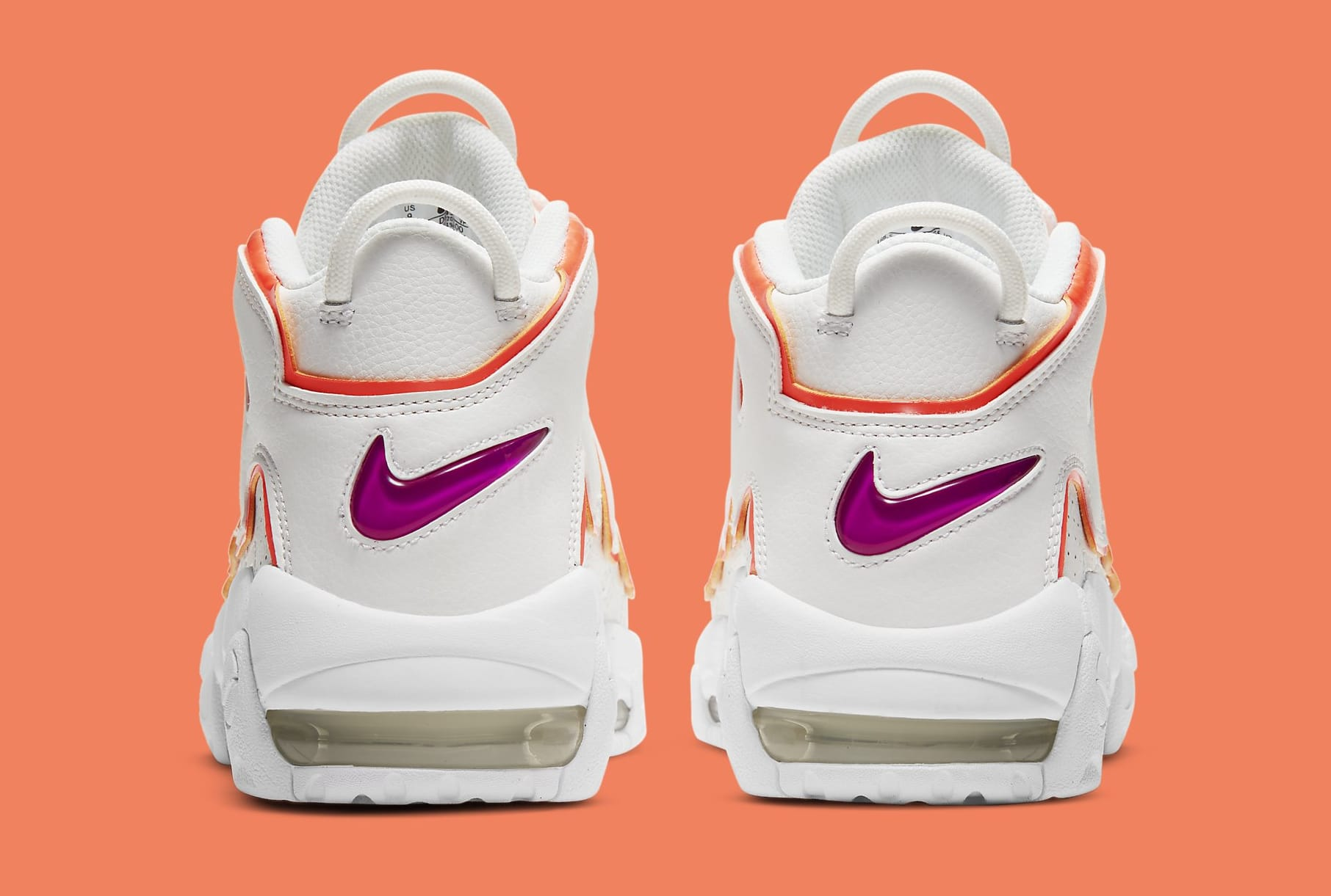 Nike Air More Uptempo 'Sunset' DH4968-100 Heel
