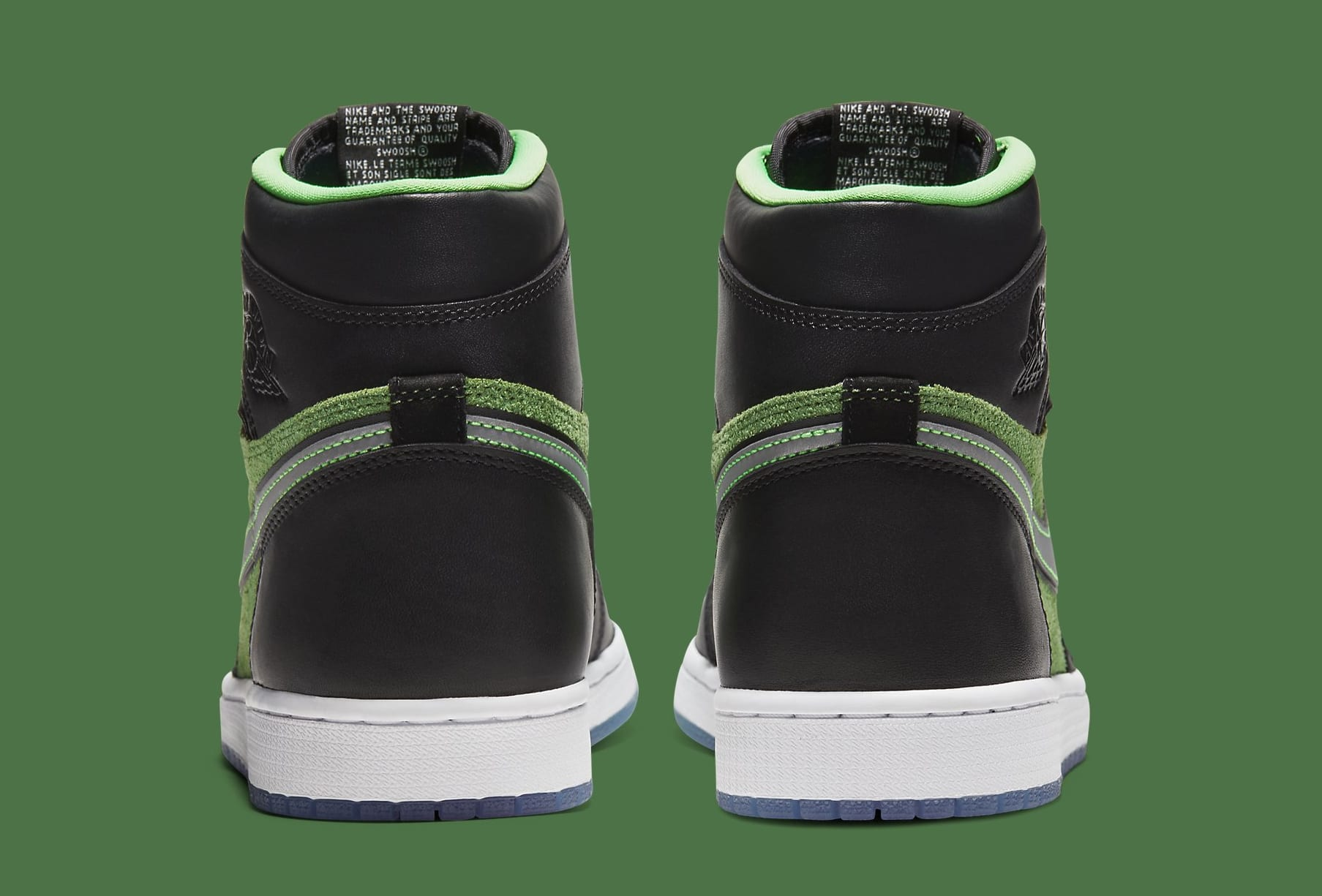 Air Jordan 1 High Zoom 'Rage Green' CK6637-002 Heel