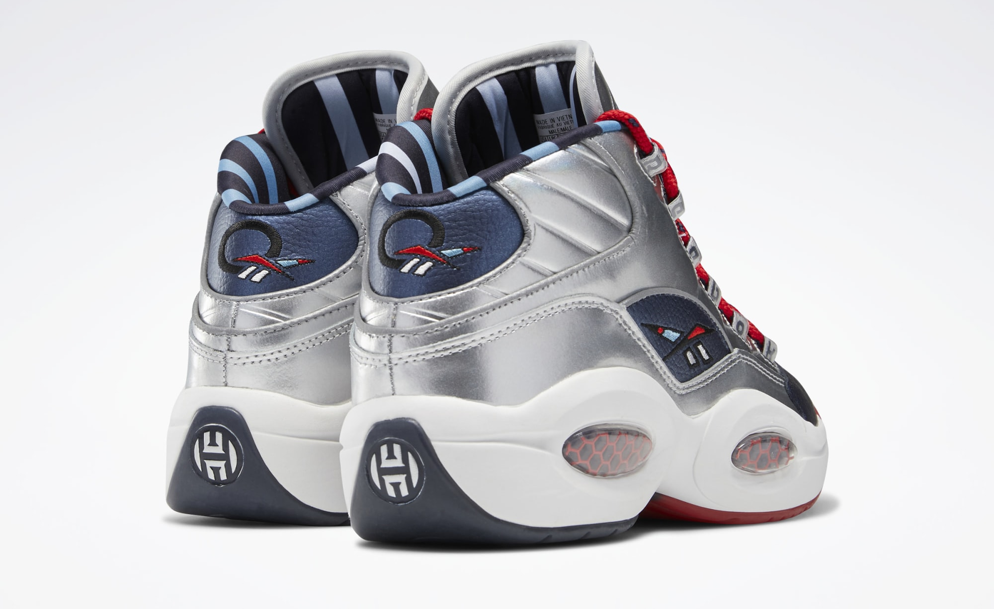 Reebok Question Mid 'Crossed Up, Step Back' FZ1366 Heel