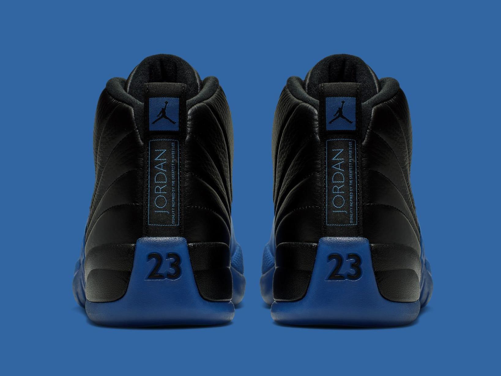 Air Jordan 12 Retro 'Black/Game Royal' 130690-014 (Heel)