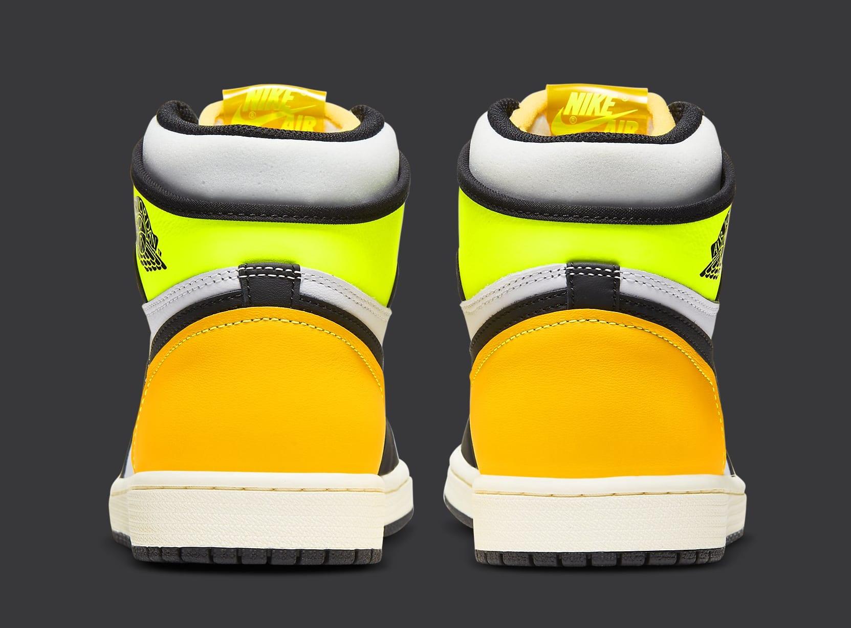 Air Jordan 1 Volt Gold Release Date 555088-118 Heel