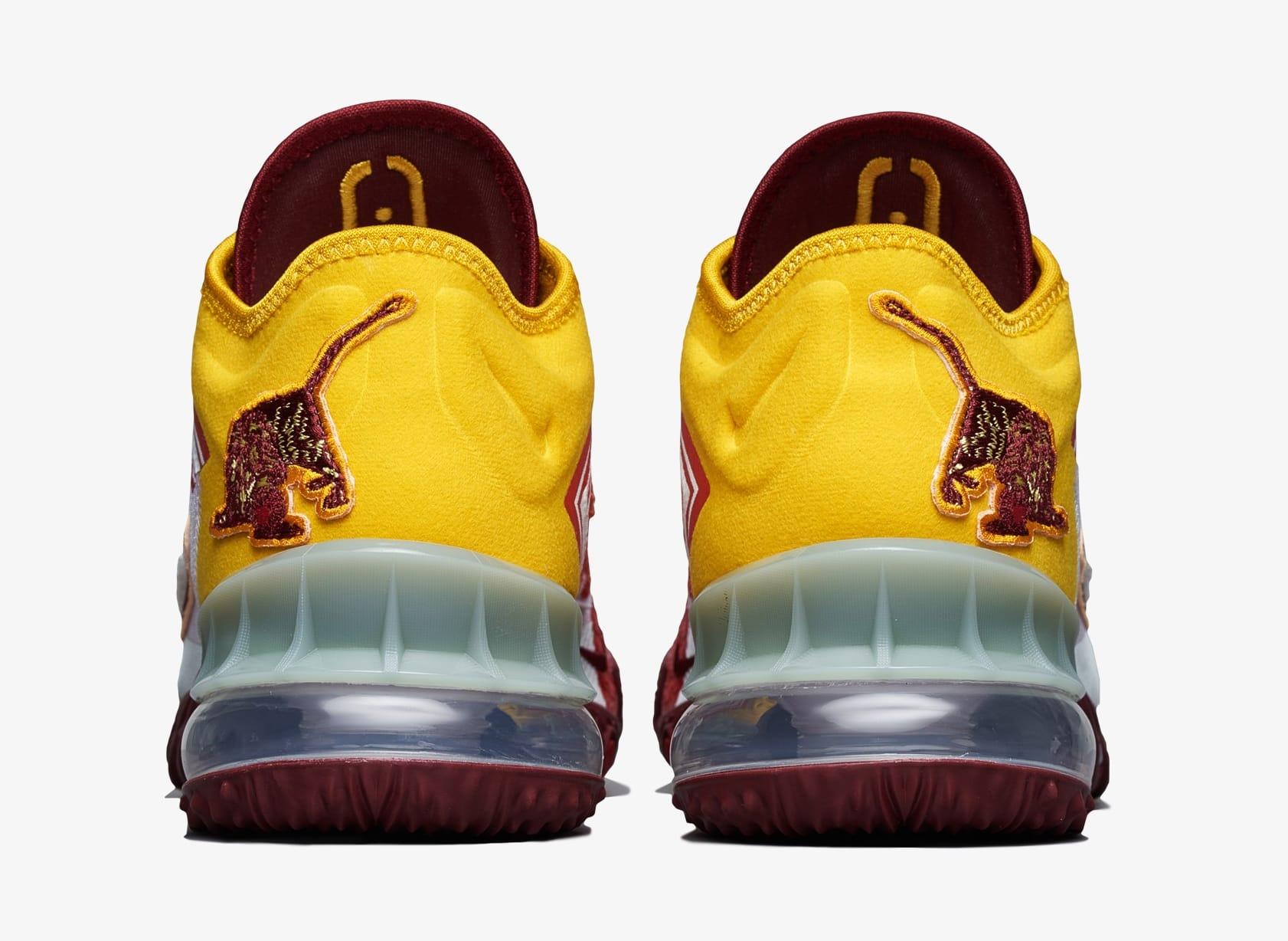 Mimi Plange x Nike LeBron 18 Low 'Higher Learning' CV7562-102 Heel