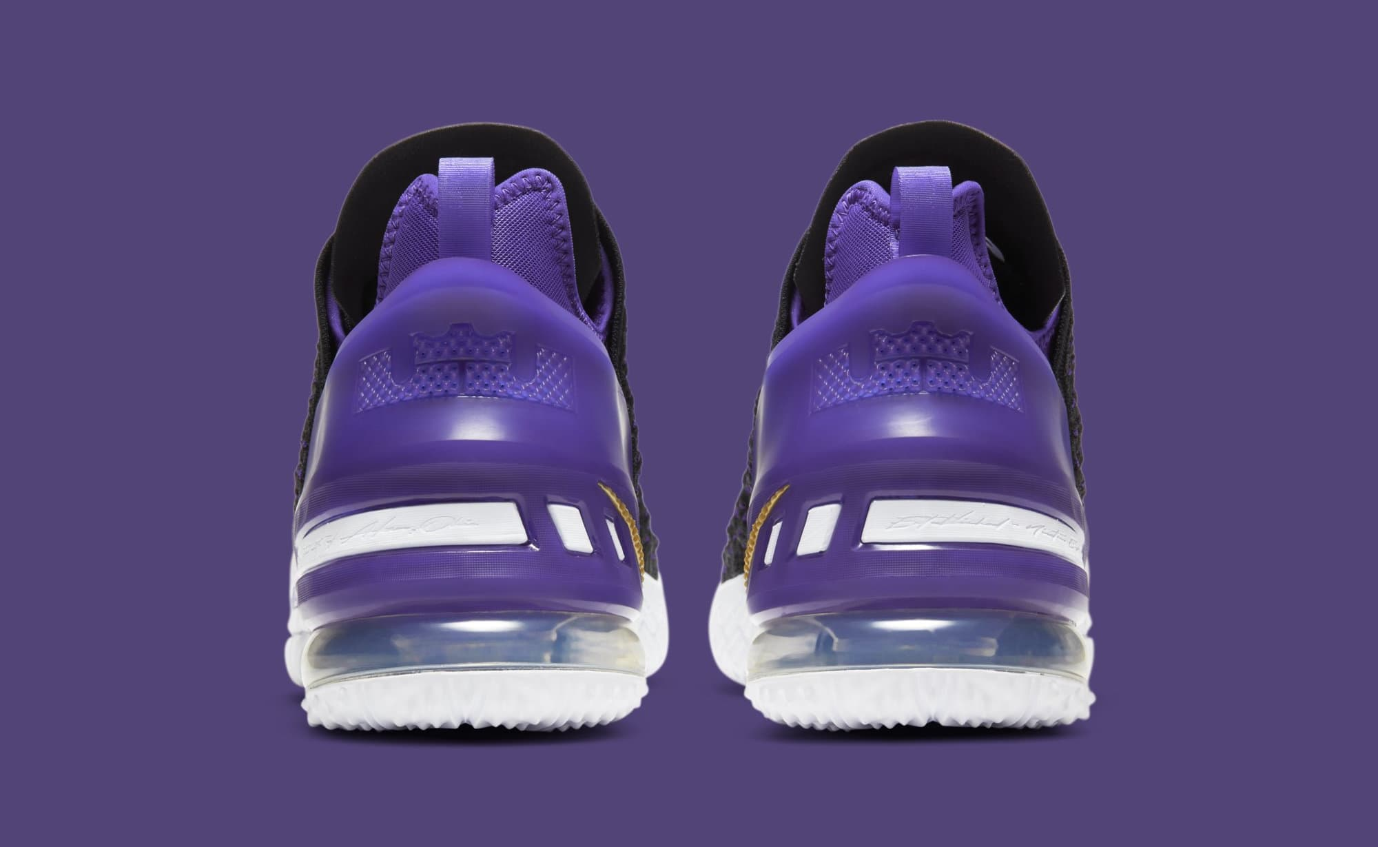 Nike LeBron 18 'Lakers' CQ9283-004 Heel