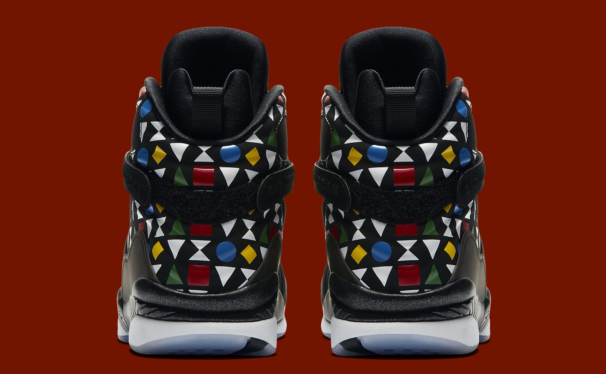 Air Jordan 8 Retro 'Quai 54' CJ9218-001 Heel