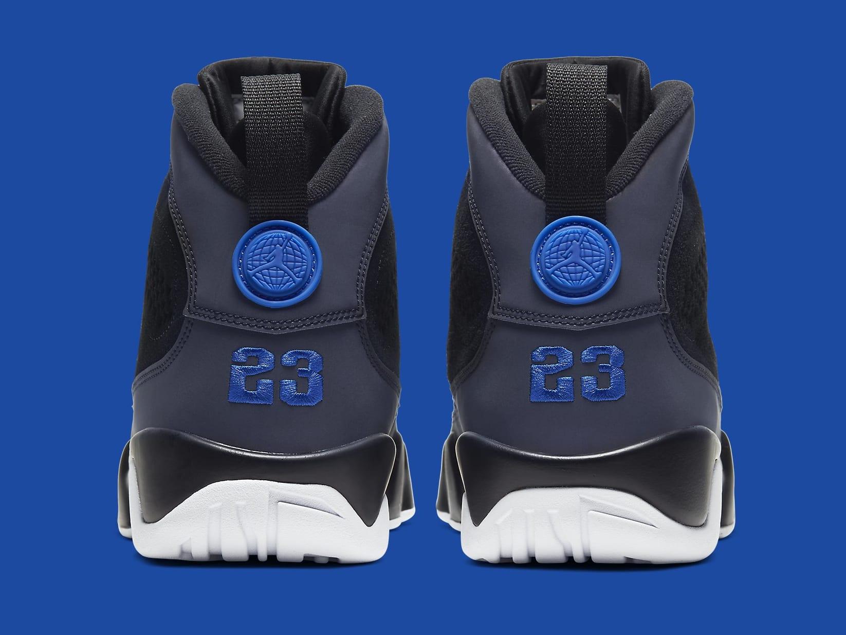 Air Jordan 9 Racer Blue Release Date CT8019-024 Heel