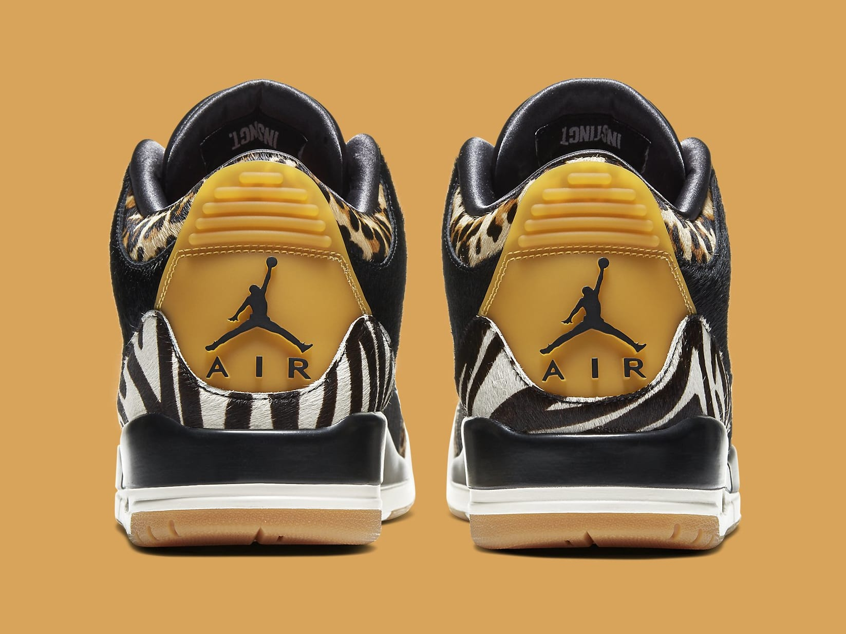 Air Jordan 3 Animal Instinct Release Date CK4344-002 Heel
