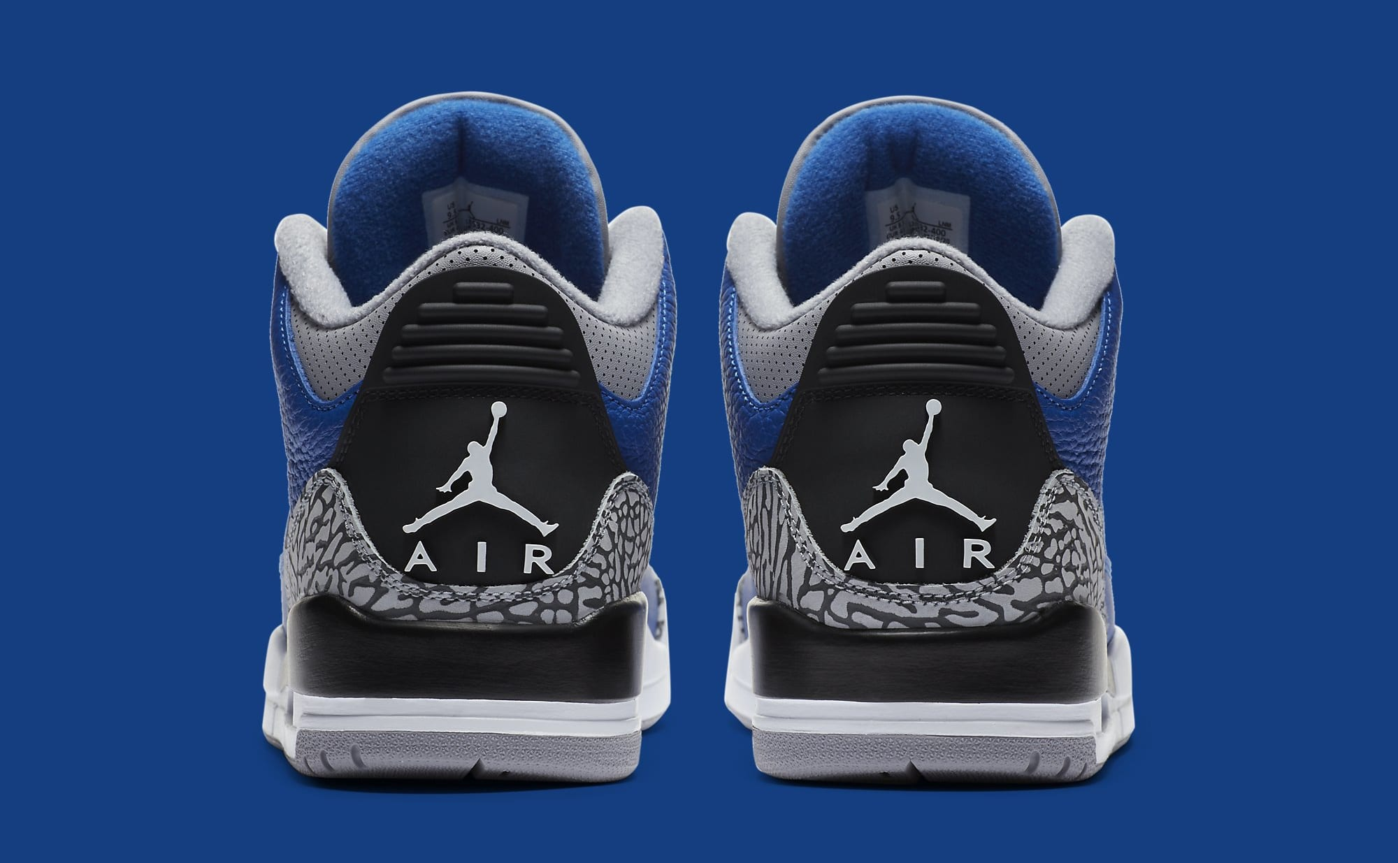 Air Jordan 3 III Retro 'Varsity Royal' CT8532-400 Heel