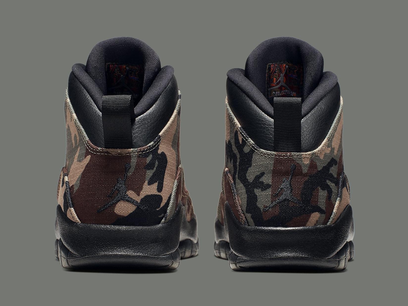 Air Jordan 10 Camo Release Date 310805-201 Heel
