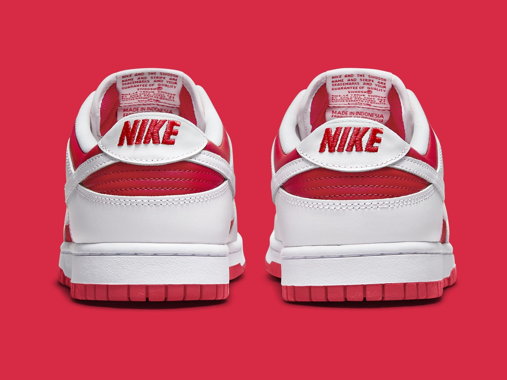 Nike Dunk Low Championship Red DD1391-600 Release Date Heel