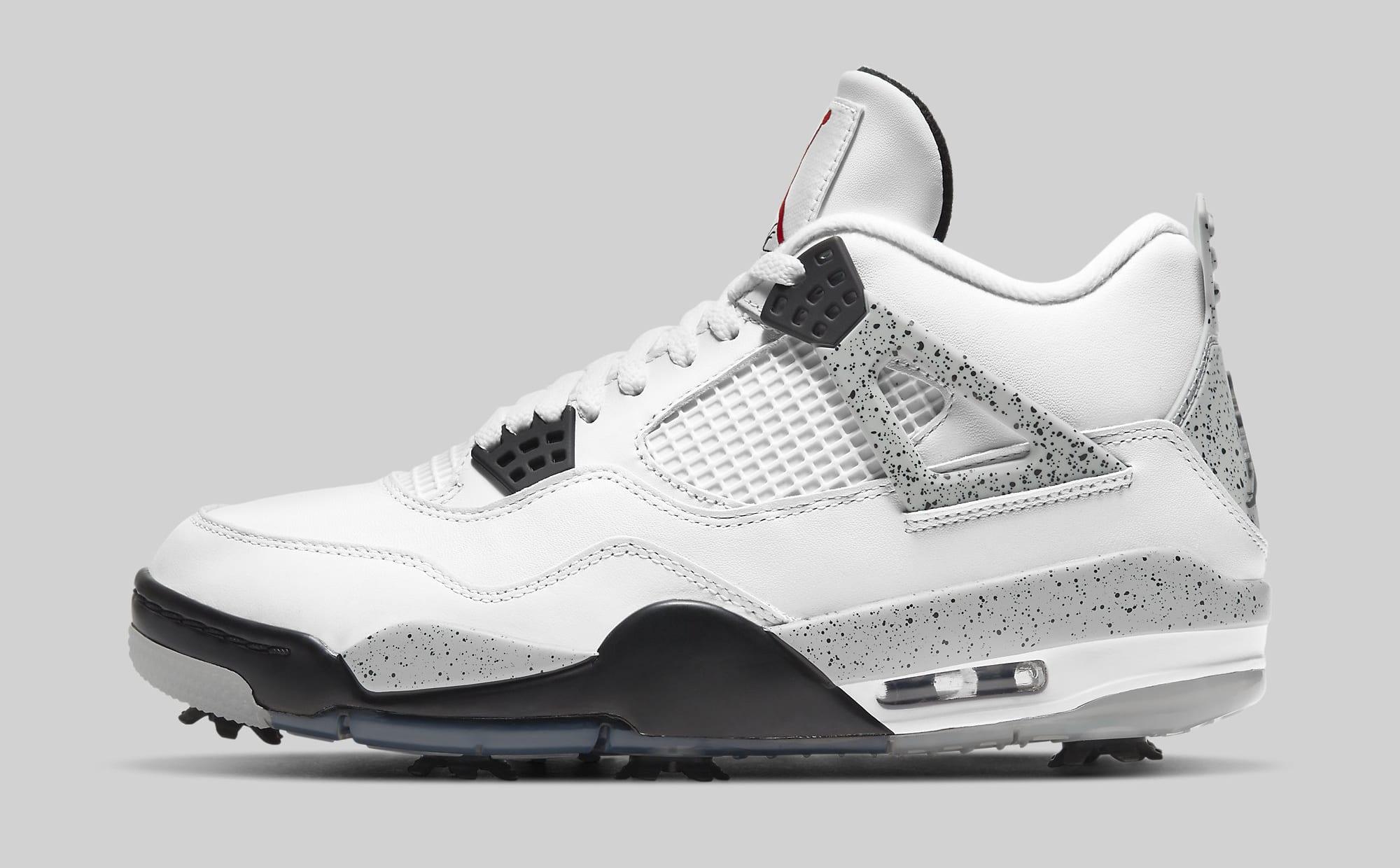 Air Jordan 4 Golf 'White Cement' CU9981-100 Lateral