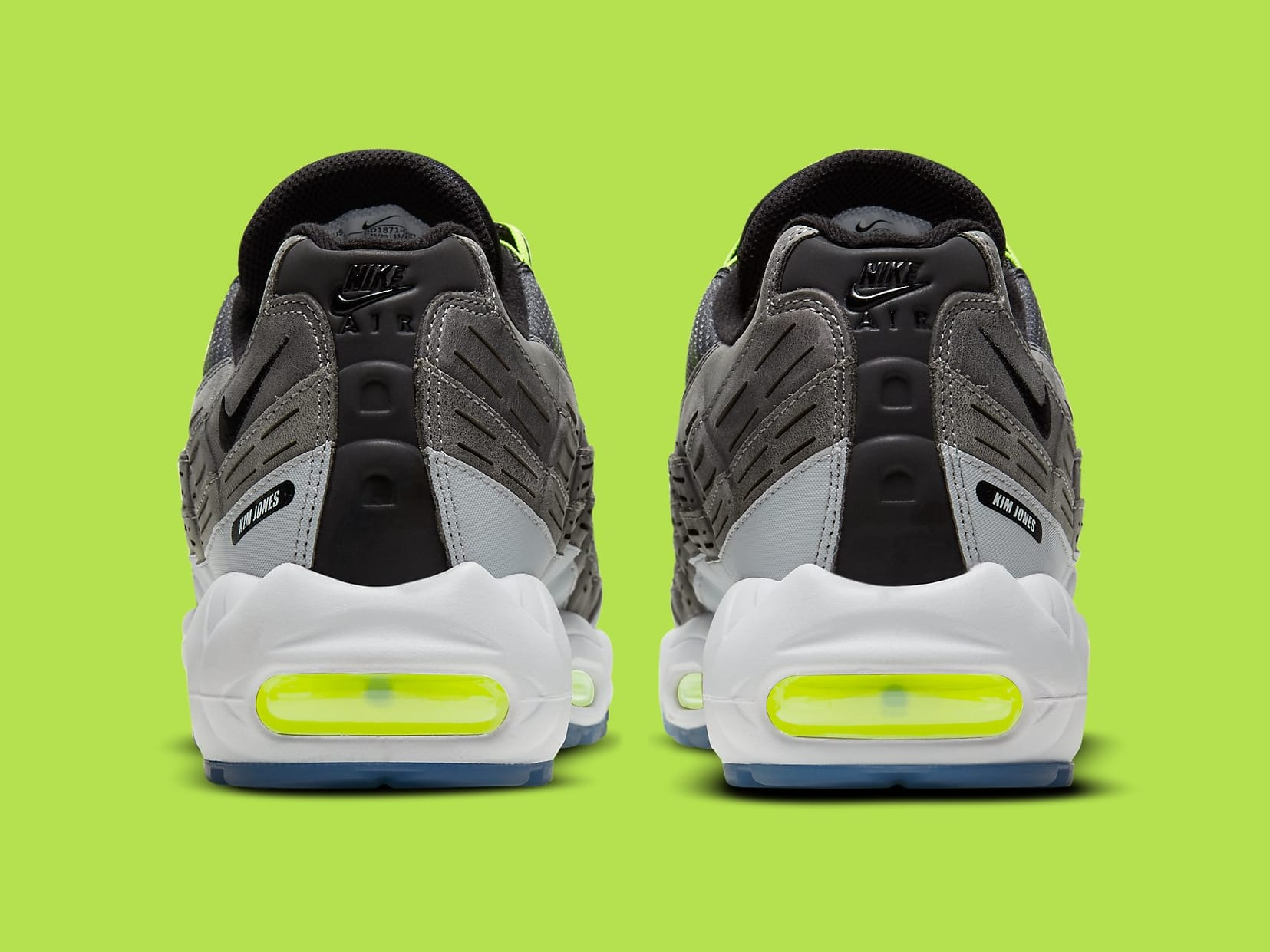 Kim Jones x Nike Air Max 95 Volt Release Date DD1871-002 Heel