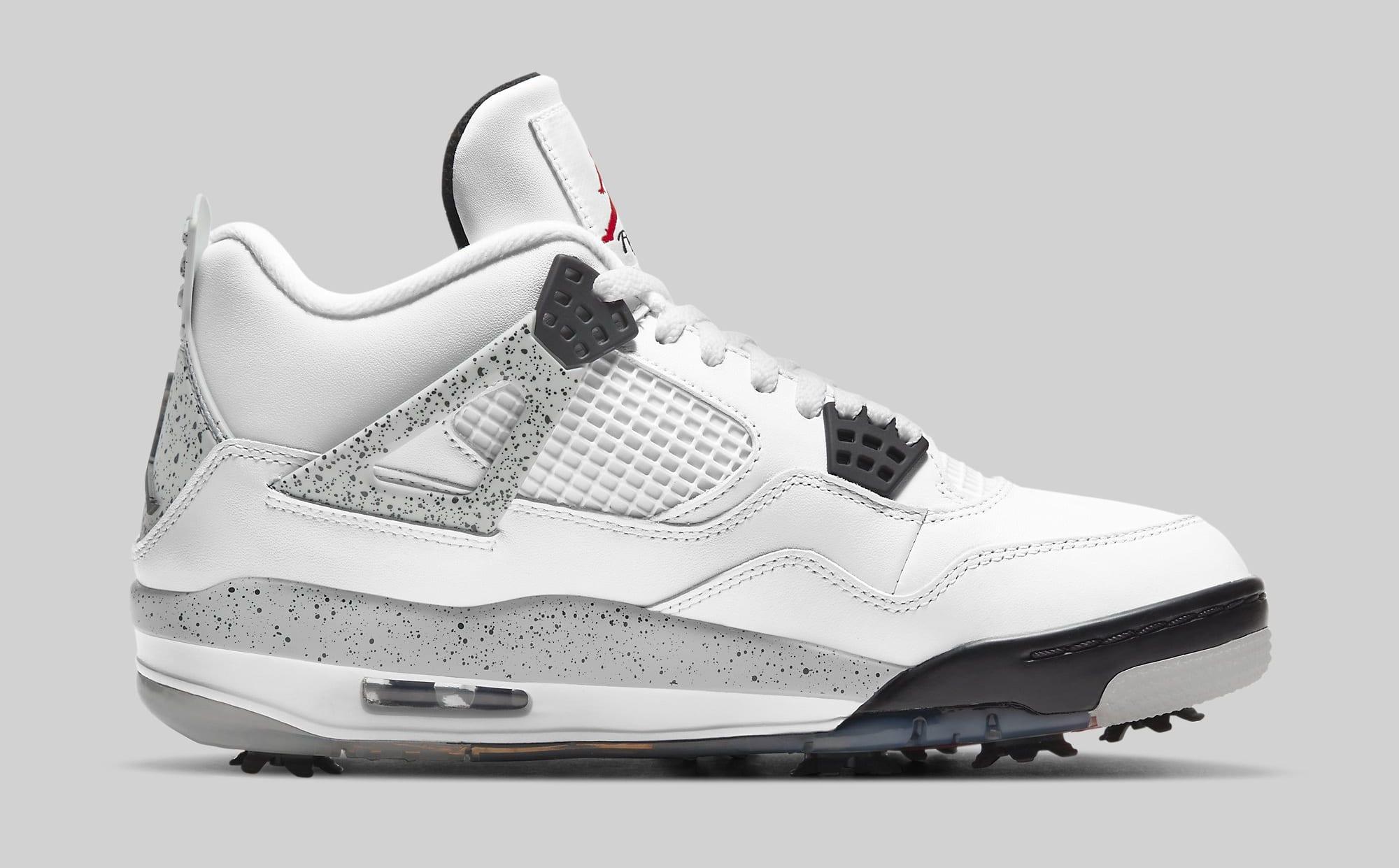 Air Jordan 4 Golf 'White Cement' CU9981-100 Medial