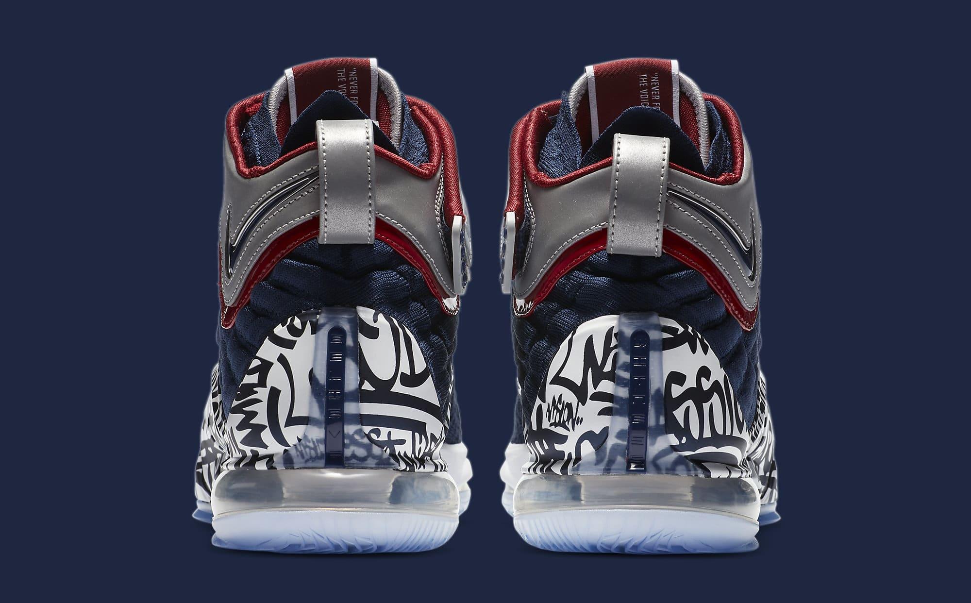 Nike LeBron 17 'All-Star Graffiti' CT6047-400 Heel