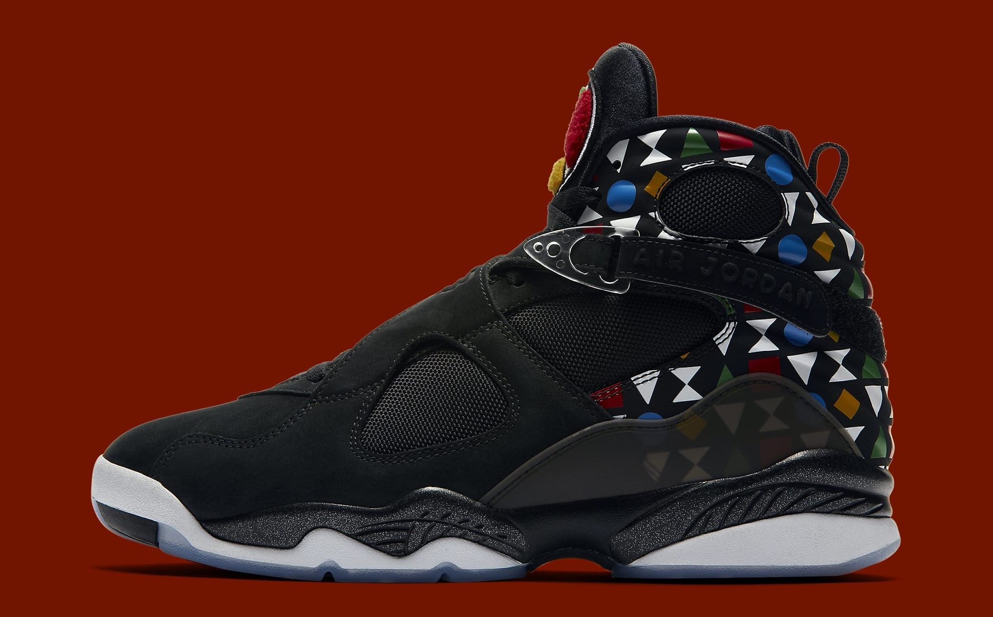 Air Jordan 8 Retro 'Quai 54' CJ9218-001 Lateral