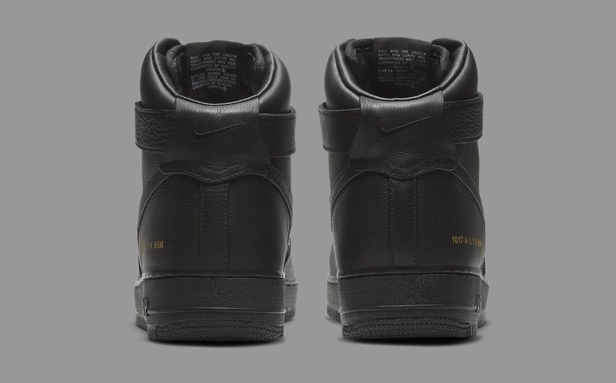 Alyx x Nike Air Force 1 High CQ4018-001 Heel