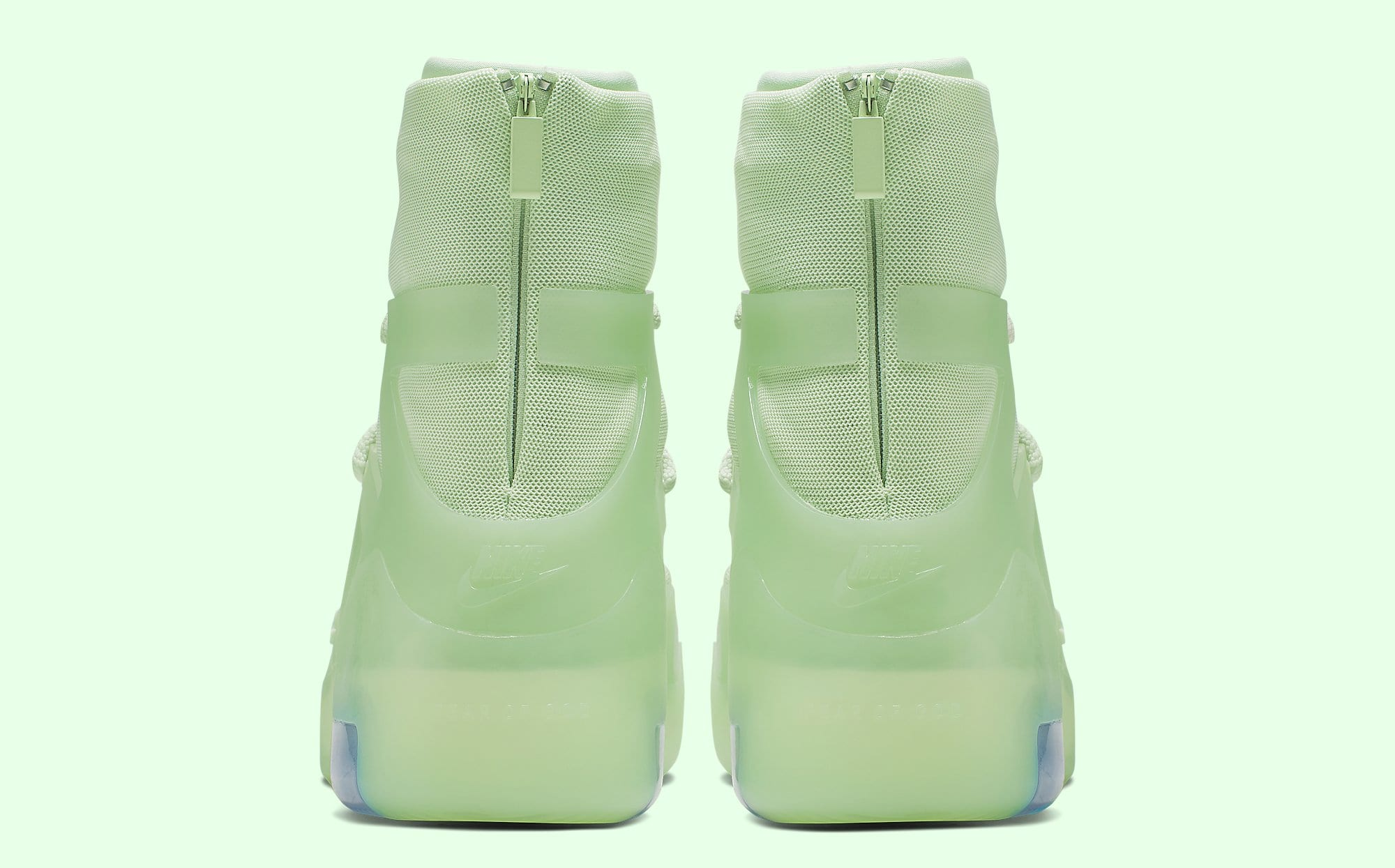 Nike Air Fear of God 1 'Frosted Spruce' AR4237-300 Heel
