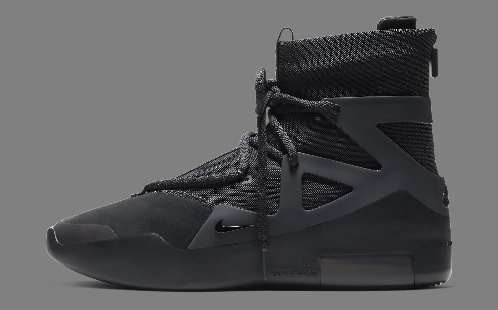 Nike Air Fear of God 1 'Triple Black' AR4237-005 Lateral