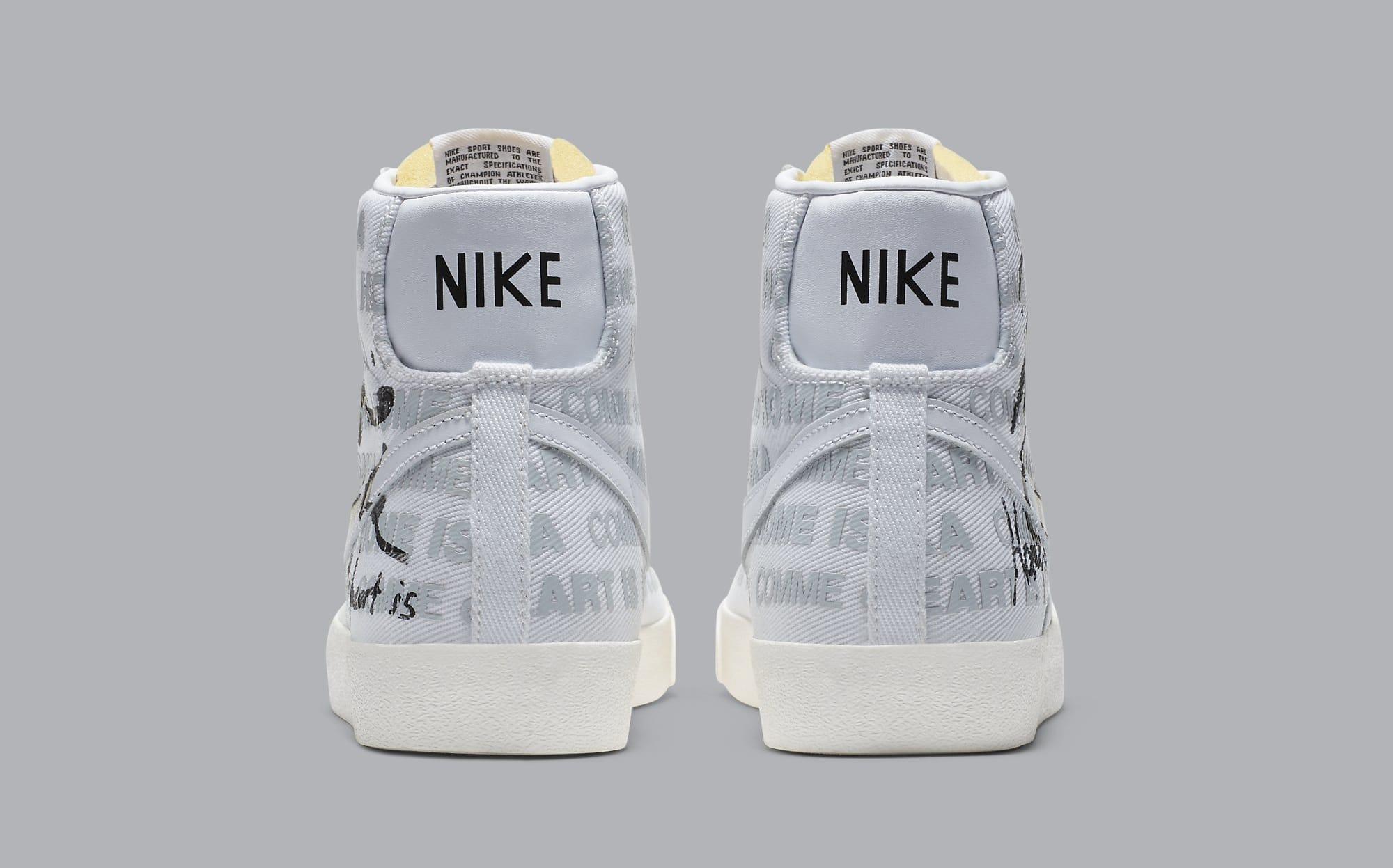 Comme des Garcons x Naomi Osaka x Nike Blazer Mid DA5383-100 Heel