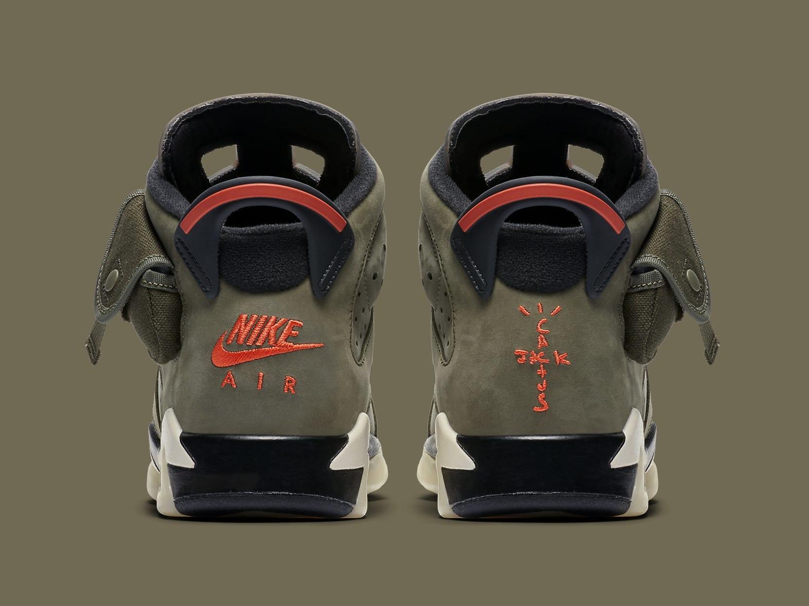 Air Jordan 6 VI Travis Scott GS Release Date CN1085-200 Heel