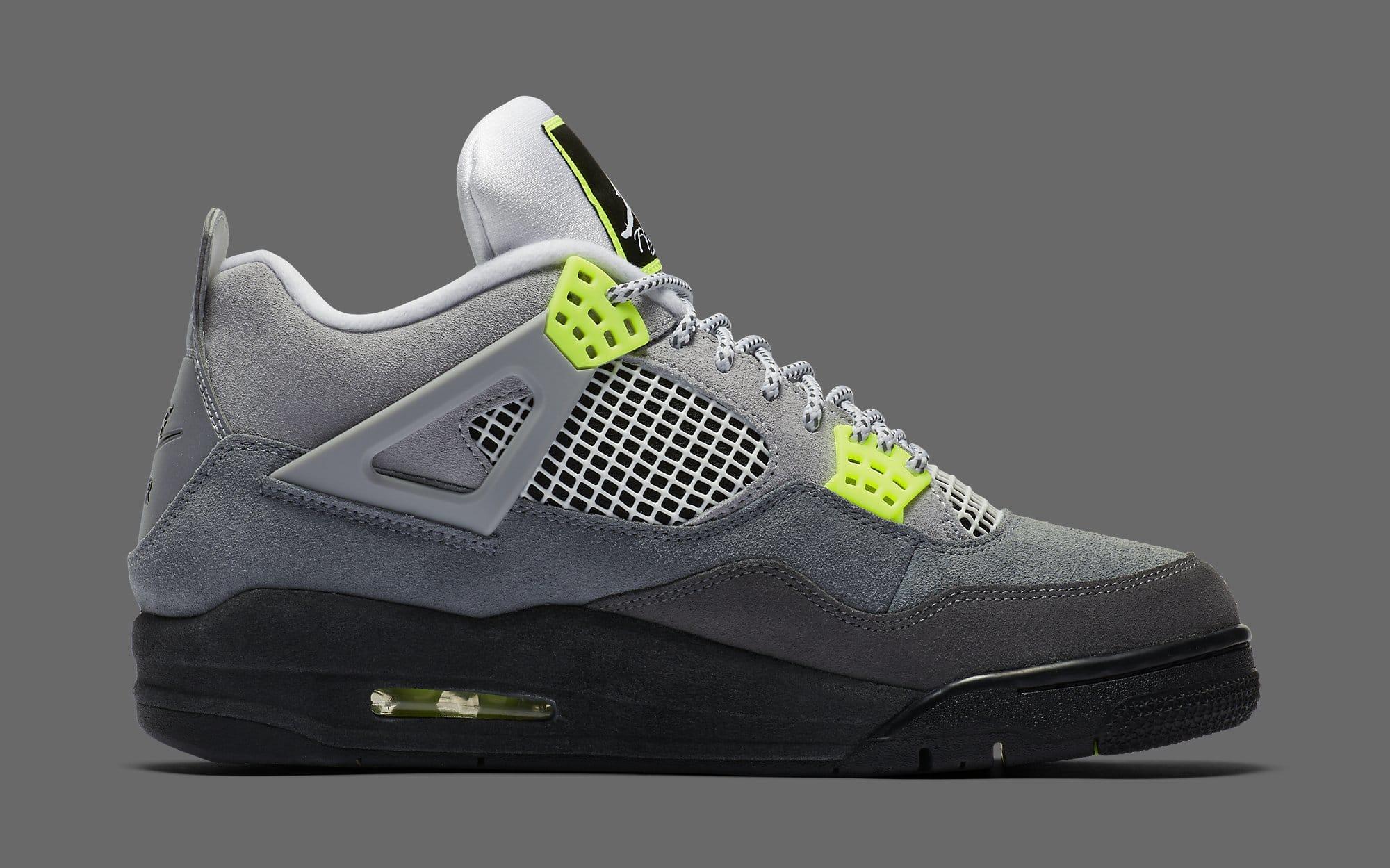 Air Jordan 4 Retro 'Neon' CT5342-007 Medial