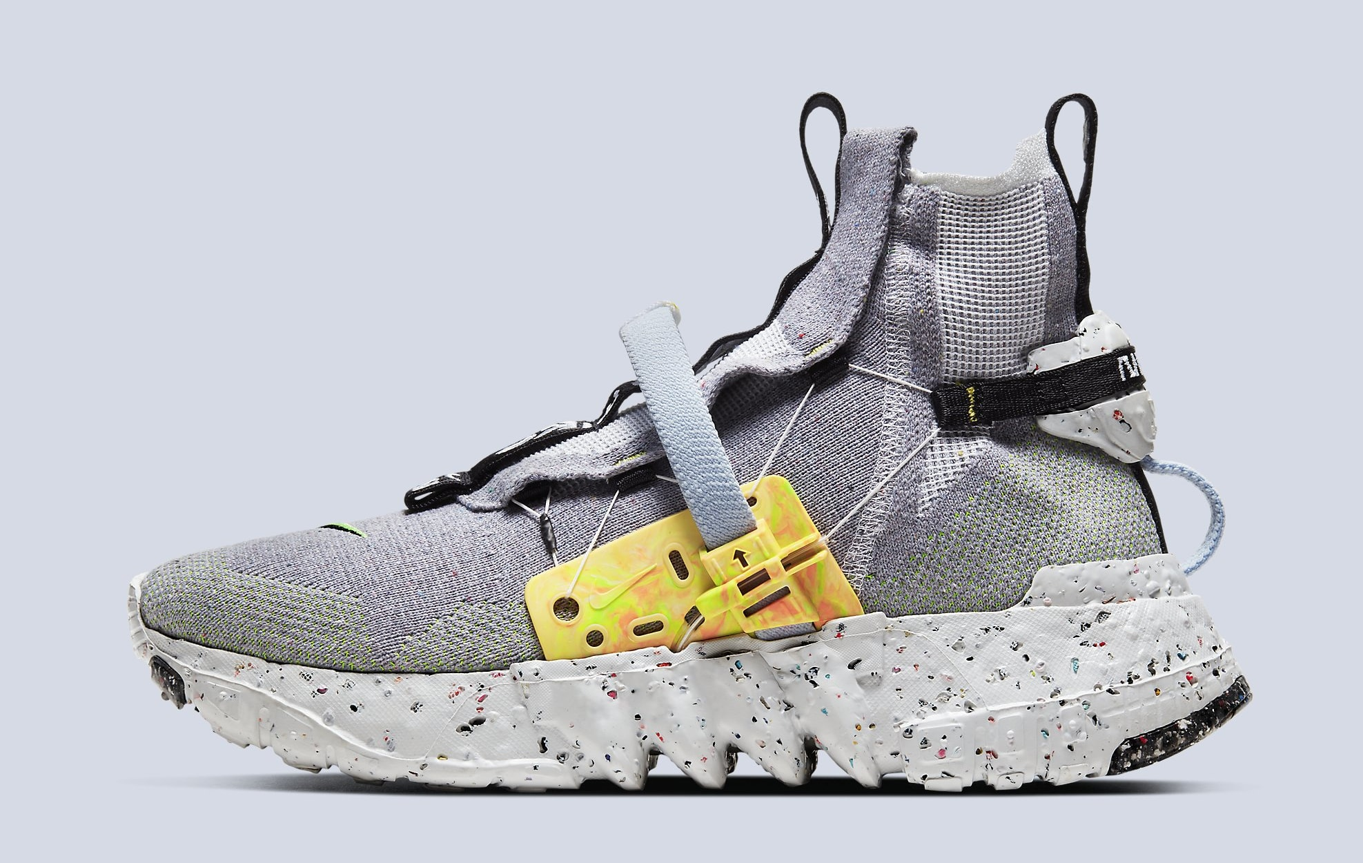 Nike Space Hippie 03 'Grey/Volt' CQ3989-002 Lateral