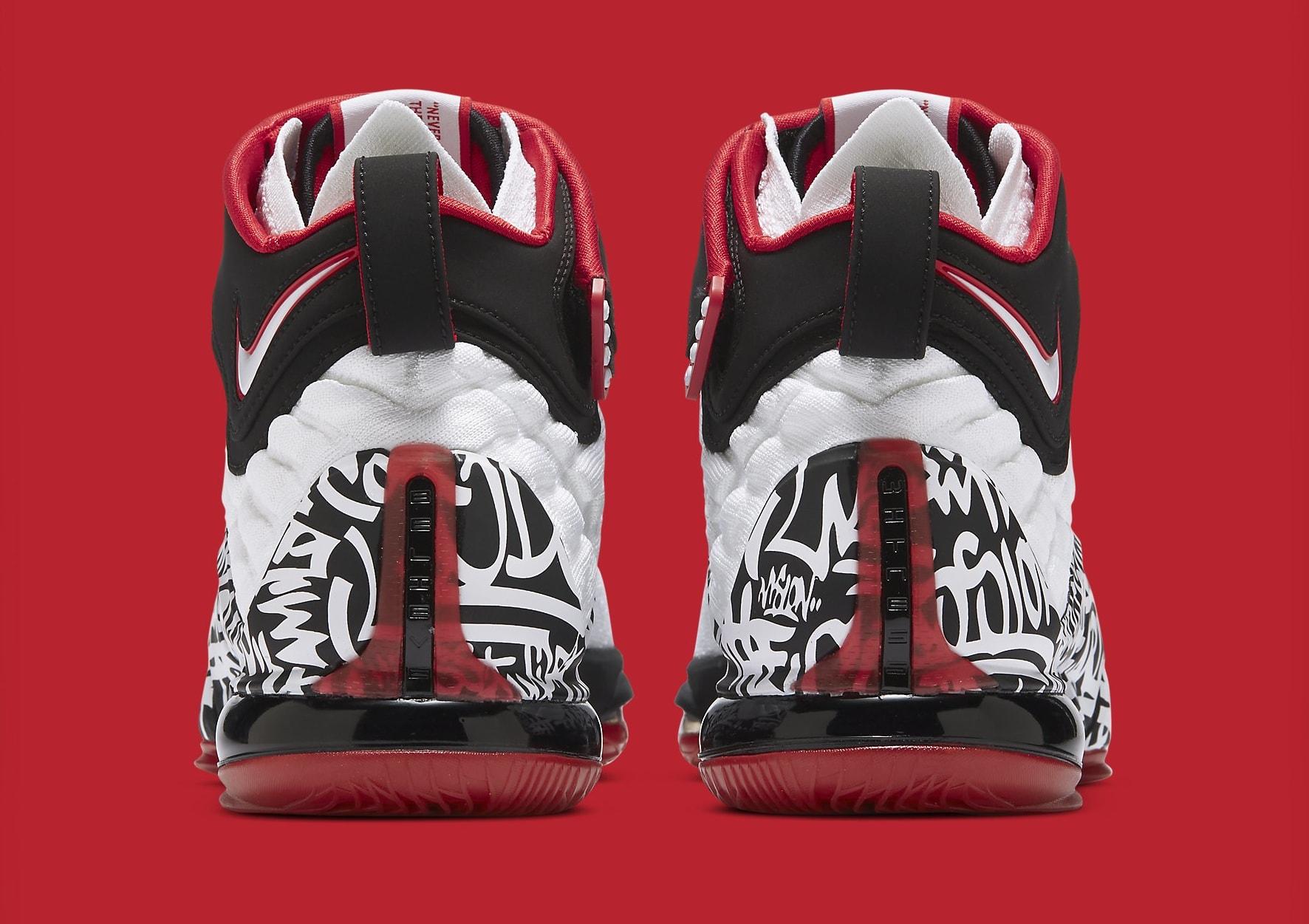 Nike LeBron 17 'Graffiti' CT6052-100 Heel