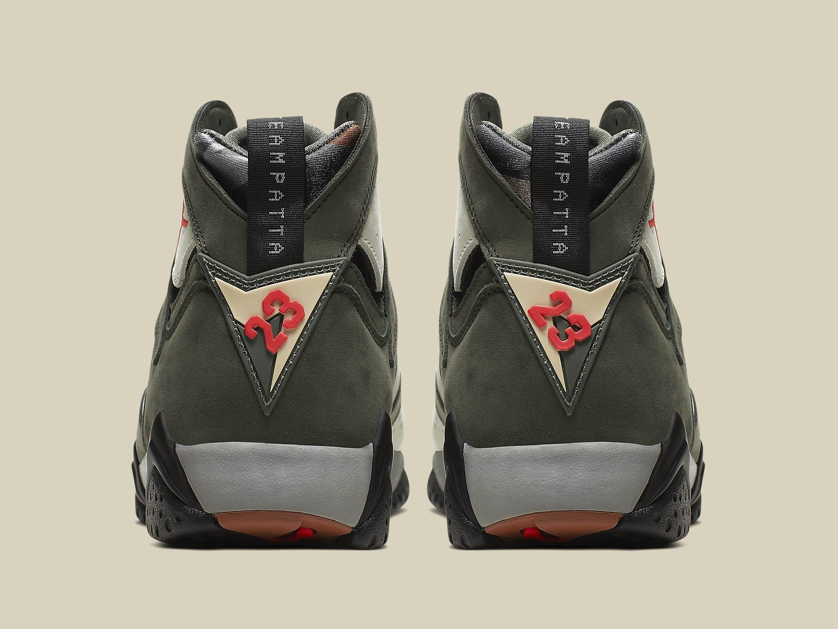afc8e1e70ba Image via Nike Patta x Air Jordan 7 VII Icicle Release Date AT3375-100 Heel