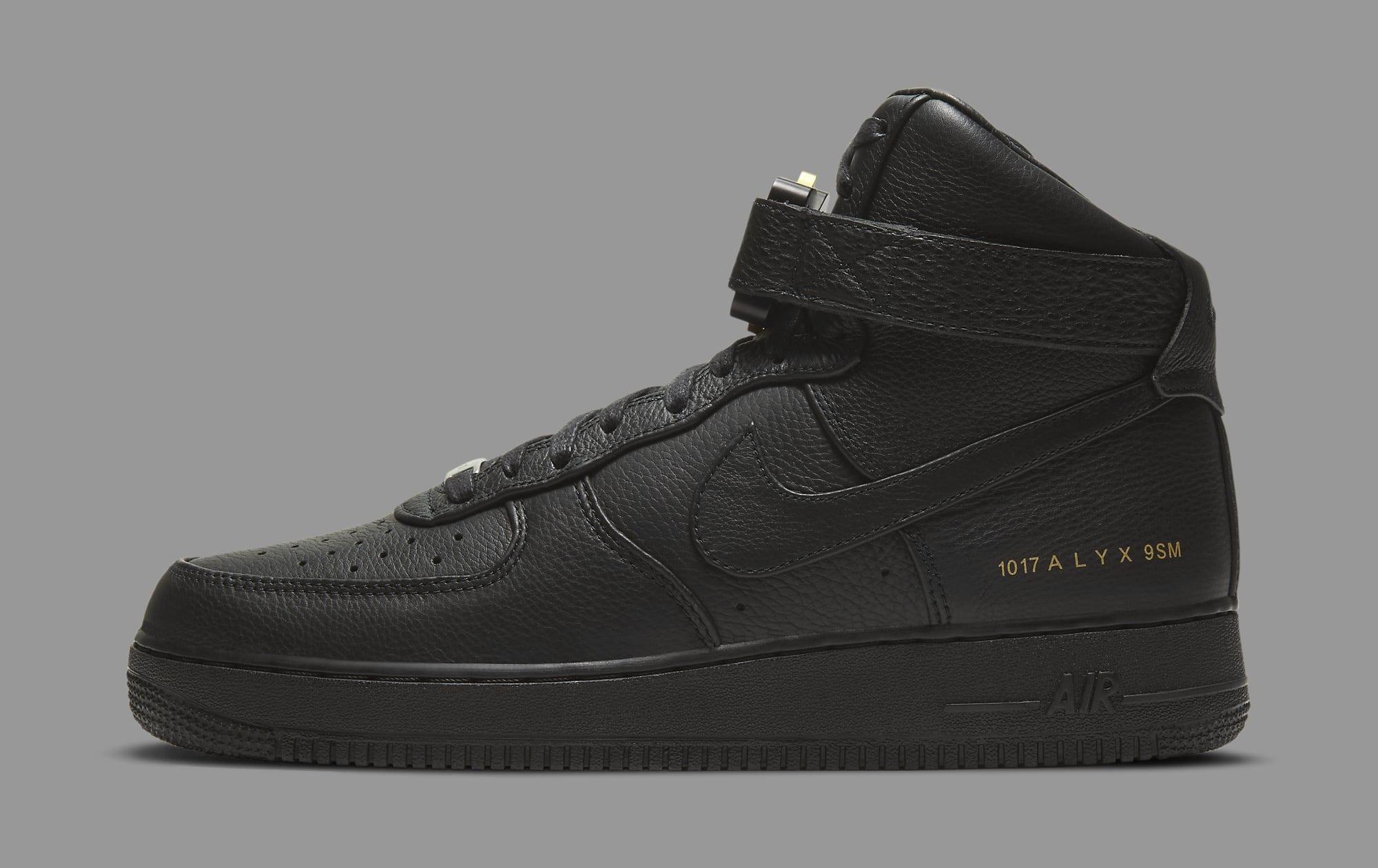 Alyx x Nike Air Force 1 High CQ4018-001 Lateral