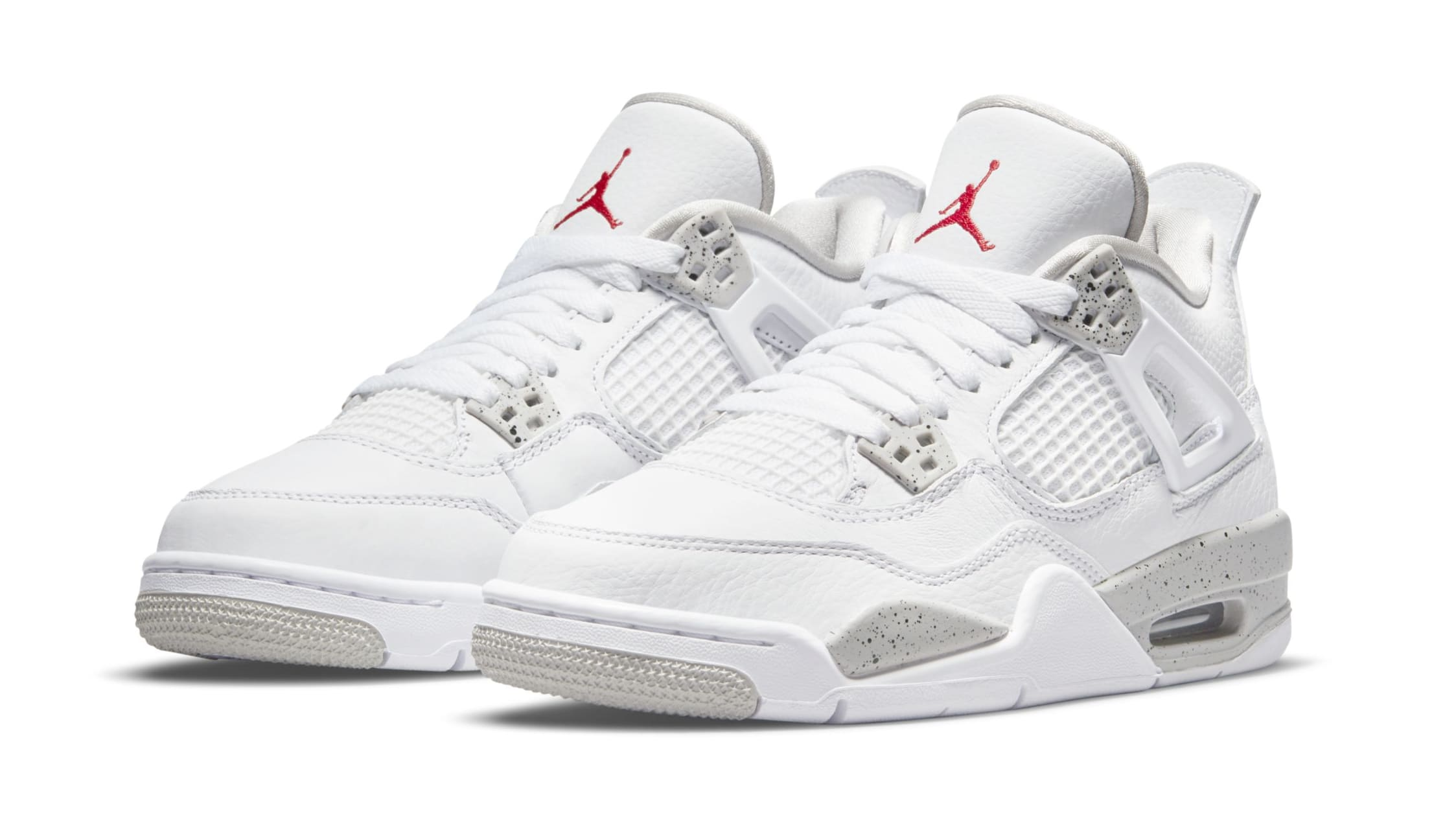 Air Jordan 4 White/Tech Grey/Black/Fire Red CT8527-100 Pair