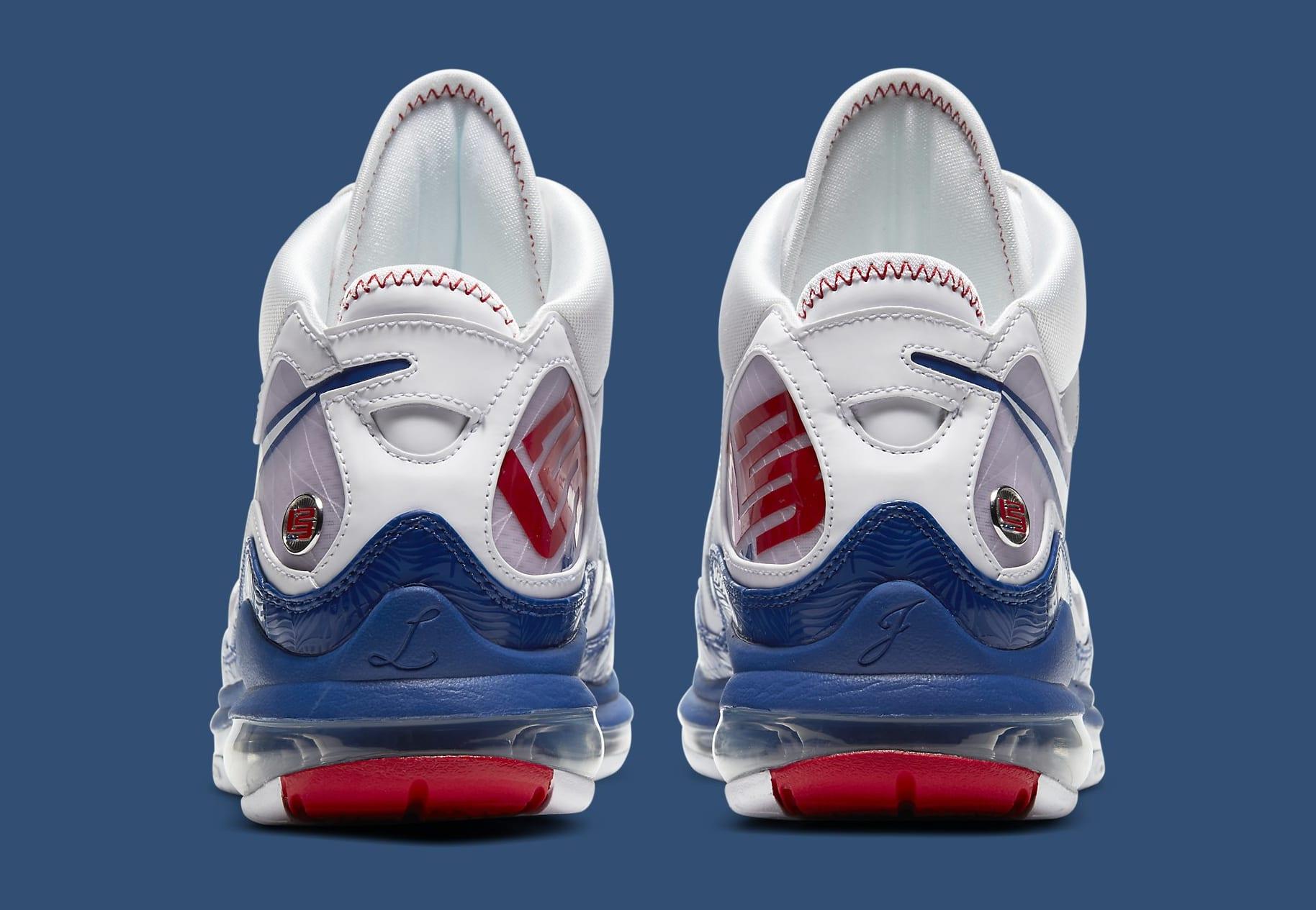 Nike LeBron 7 'Dodgers' DJ5158-100 Heel
