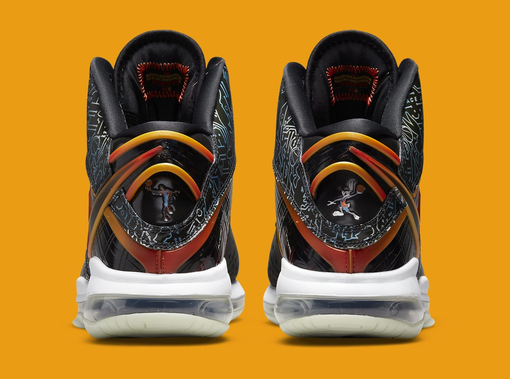 Nike LeBron 8 'Space Jam' DB1732-001 Heel