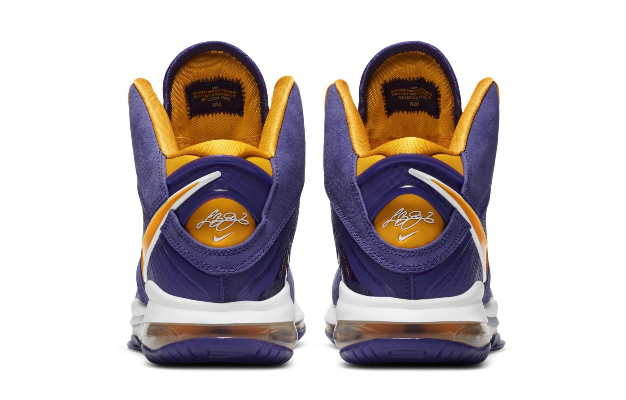 Nike LeBron 8 'Lakers' DC8380-500 (Heel)