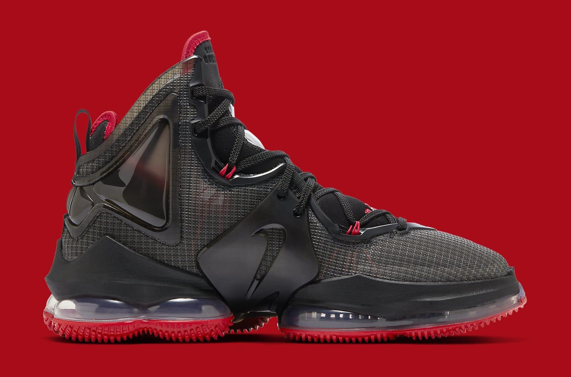 Nike LeBron 19 'Black/Red' DC9340-001 Medial