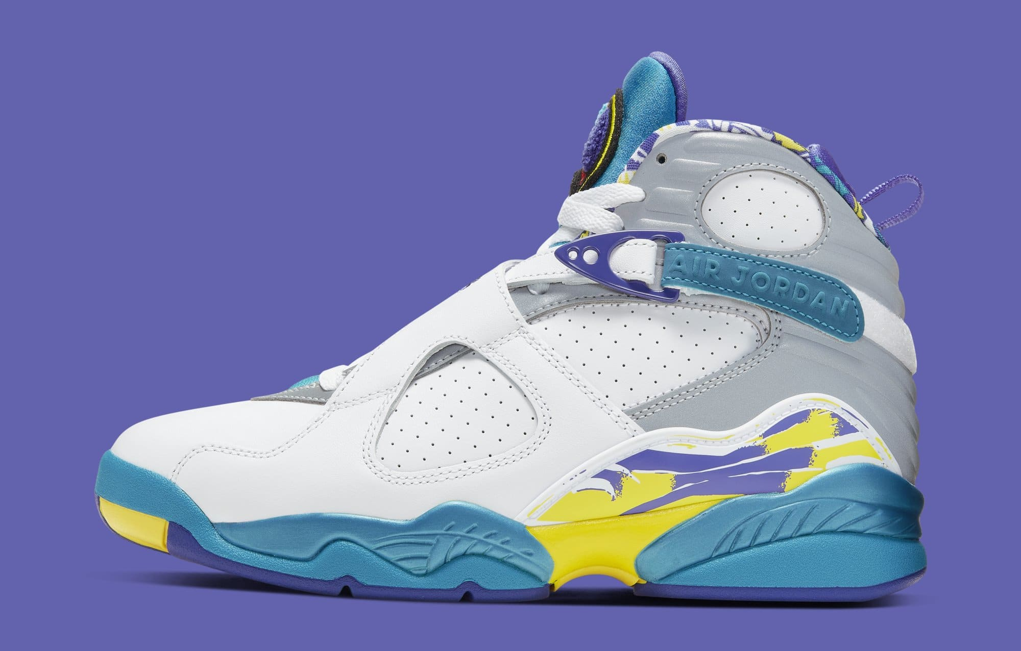 WMNS Air Jordan 8 'Aqua' CI1236-100 (Lateral)