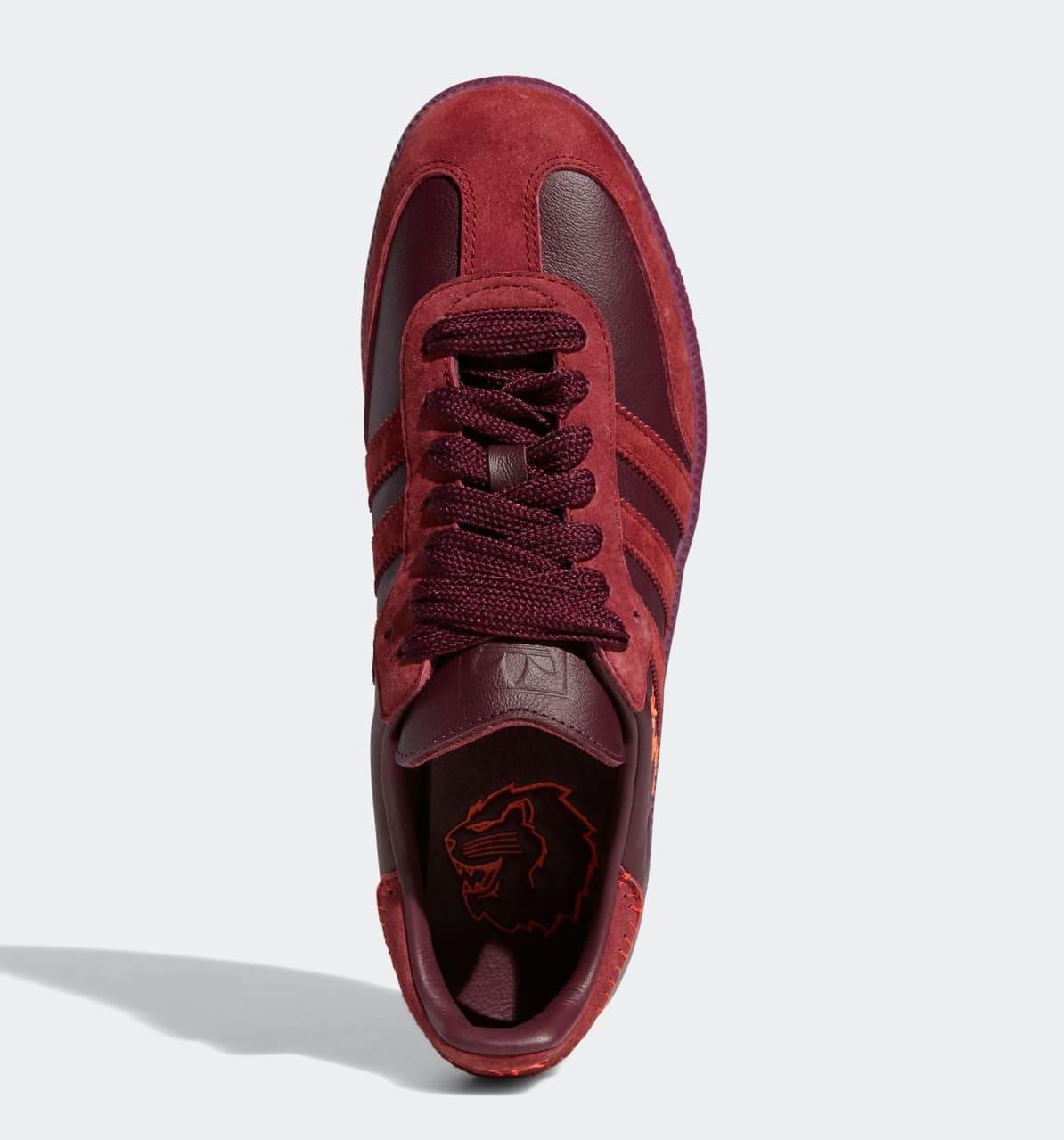 Jonah Hill x Adidas Samba 'Burgundy' FW7456 Top