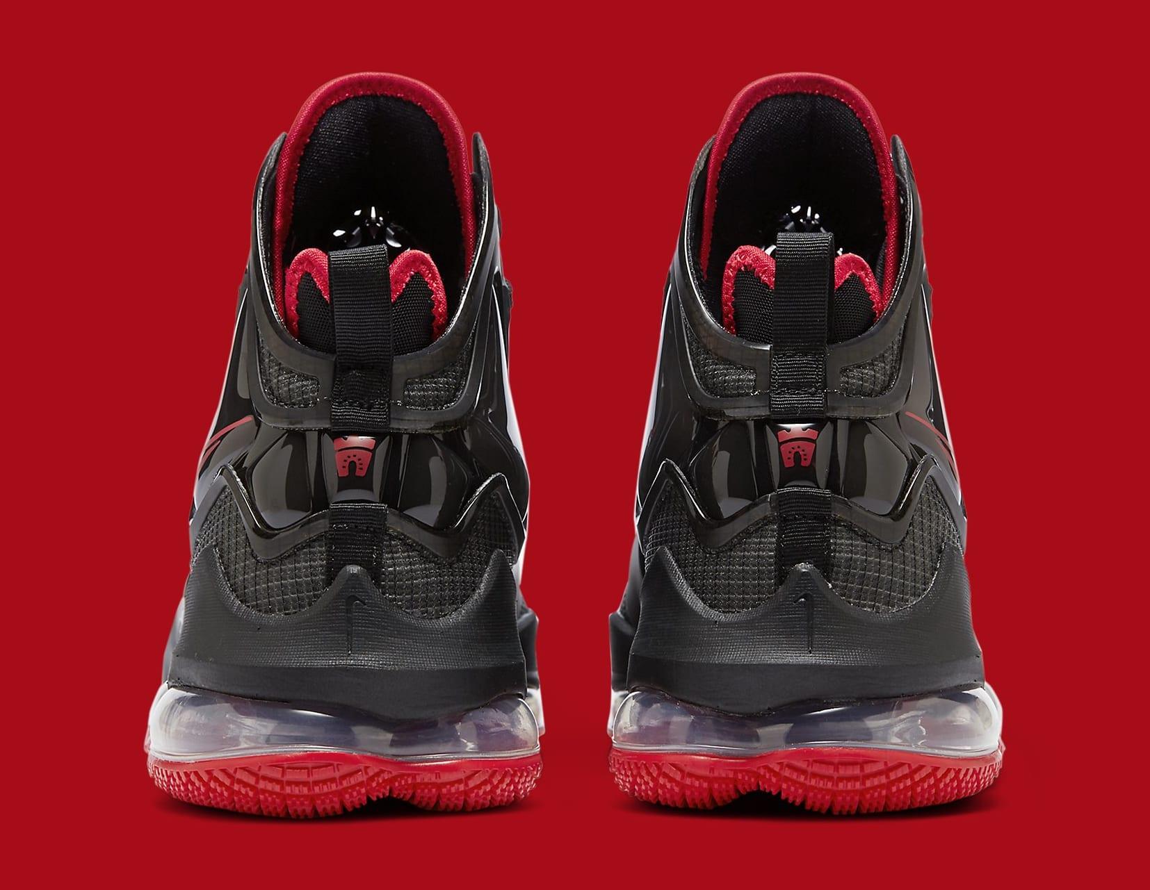 Nike LeBron 19 'Black/Red' DC9340-001 Heel