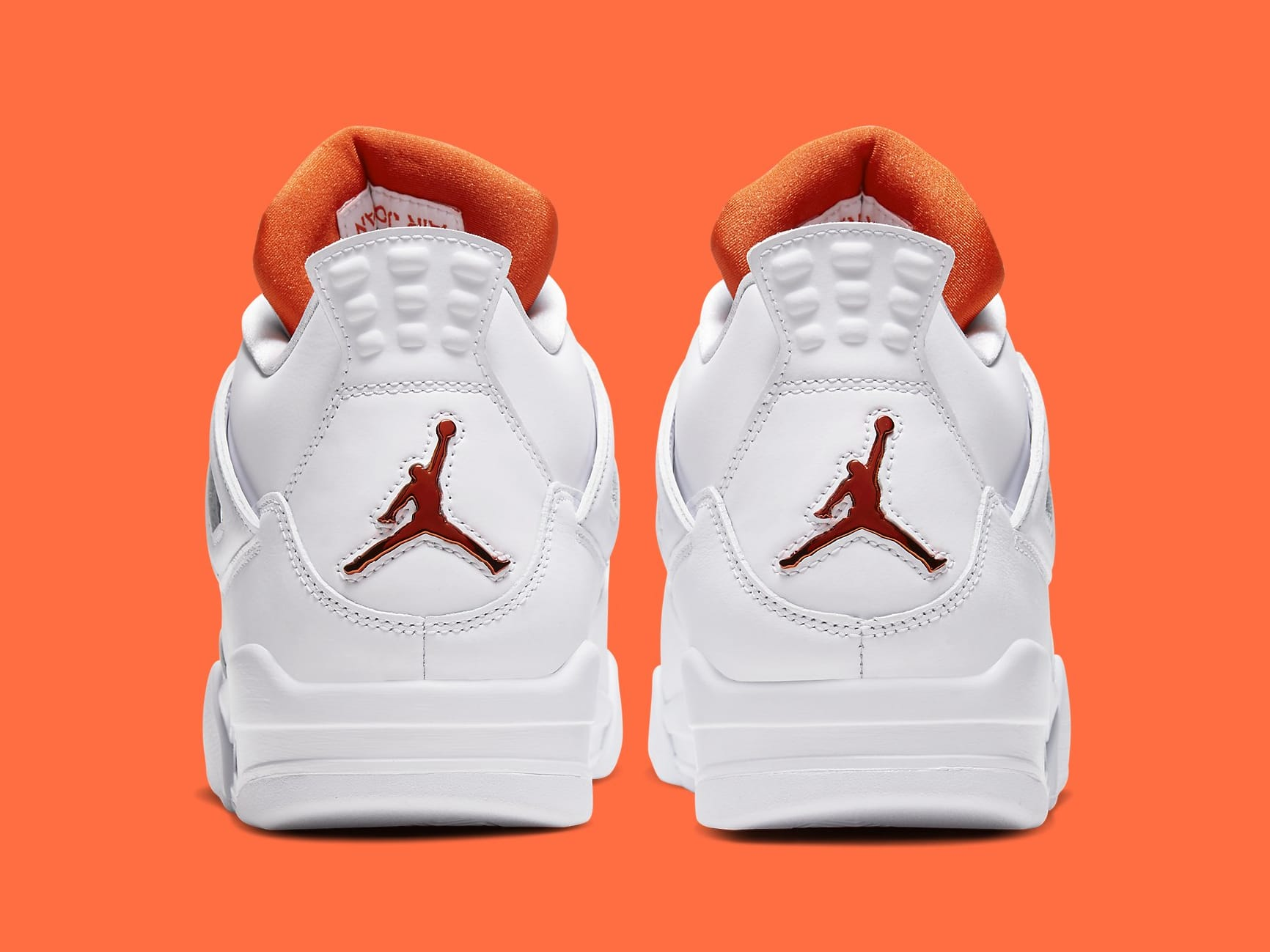 Air Jordan 4 Metallic Orange Release Date CT8527-118 Heel