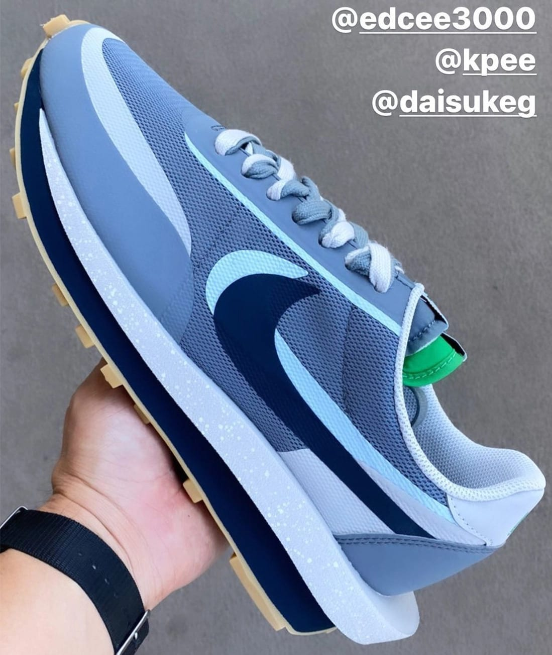 Clot x Sacai x Nike LDWaffle Grey Kiss of Death 2 Release Date Side