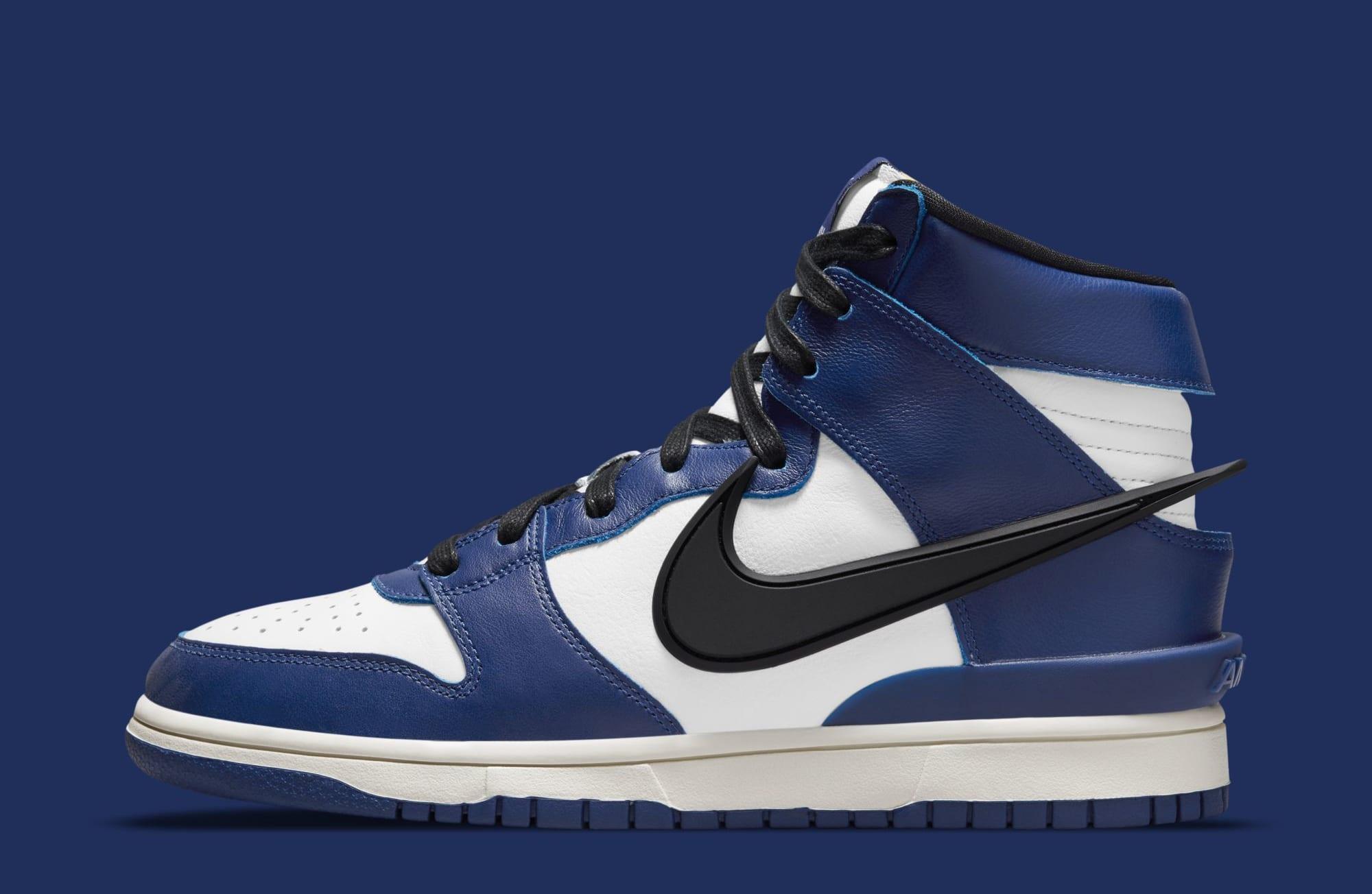 Ambush x Nike Dunk High 'Deep Royal Blue' CU7544-400 (Lateral)