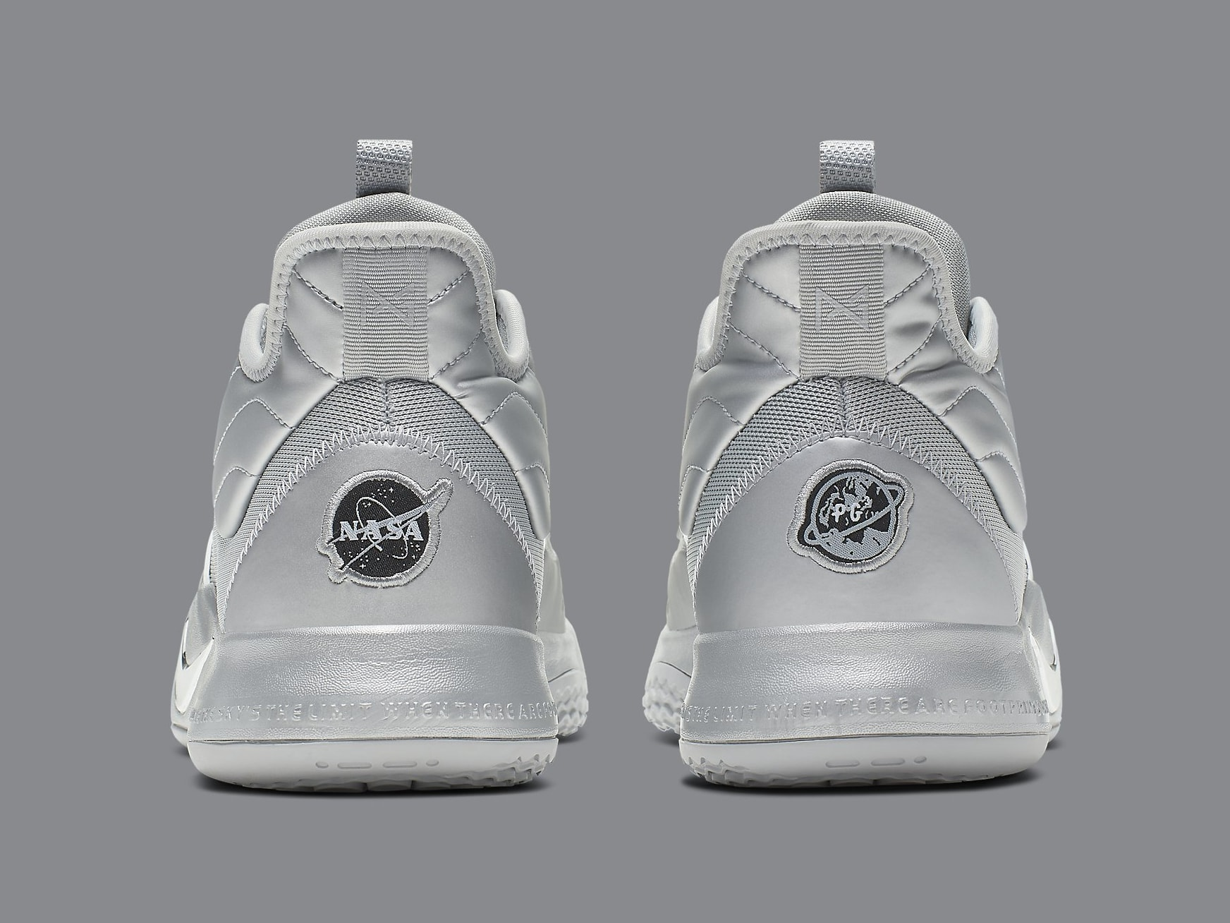Nike PG 3 NASA Silver Release Date CI2666-001 Heel