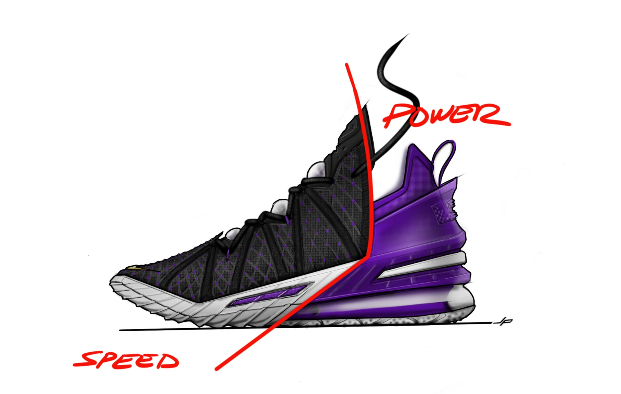 Nike LeBron 18 Sketch Lateral