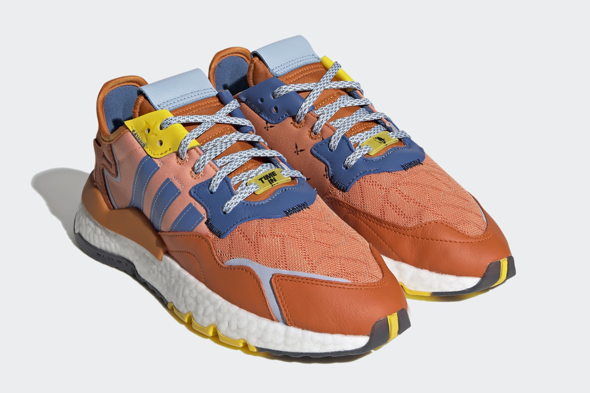 Ninja x Adidas Nite Jogger 'Orange' Q47199 Pair