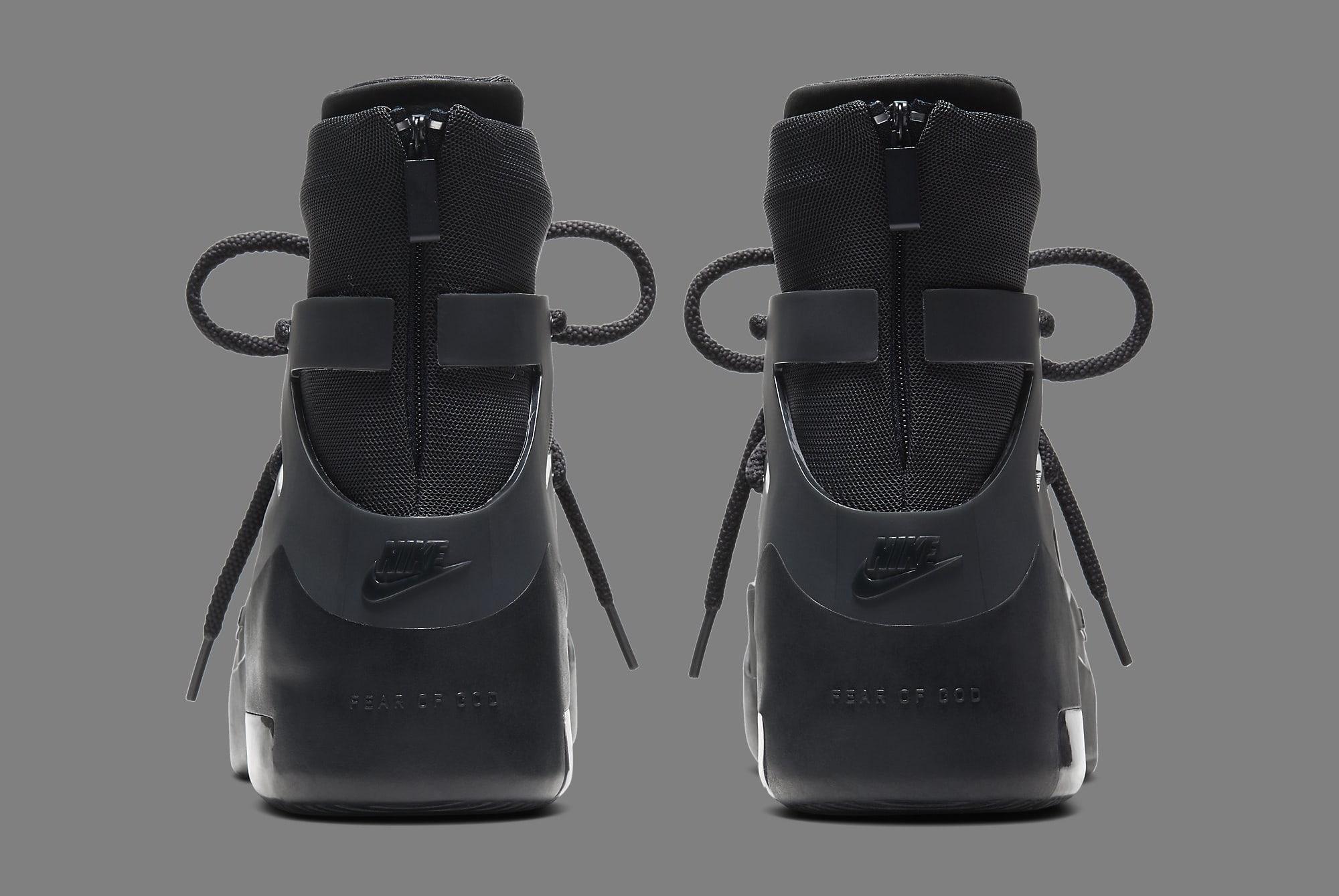 Nike Air Fear of God 1 'Triple Black' AR4237-005 Heel