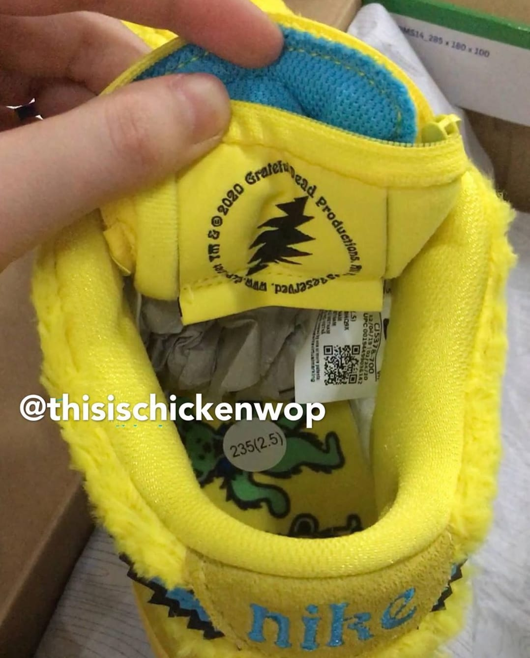 Grateful Dead x Nike SB Dunk Low Yellow/Blue Tongue