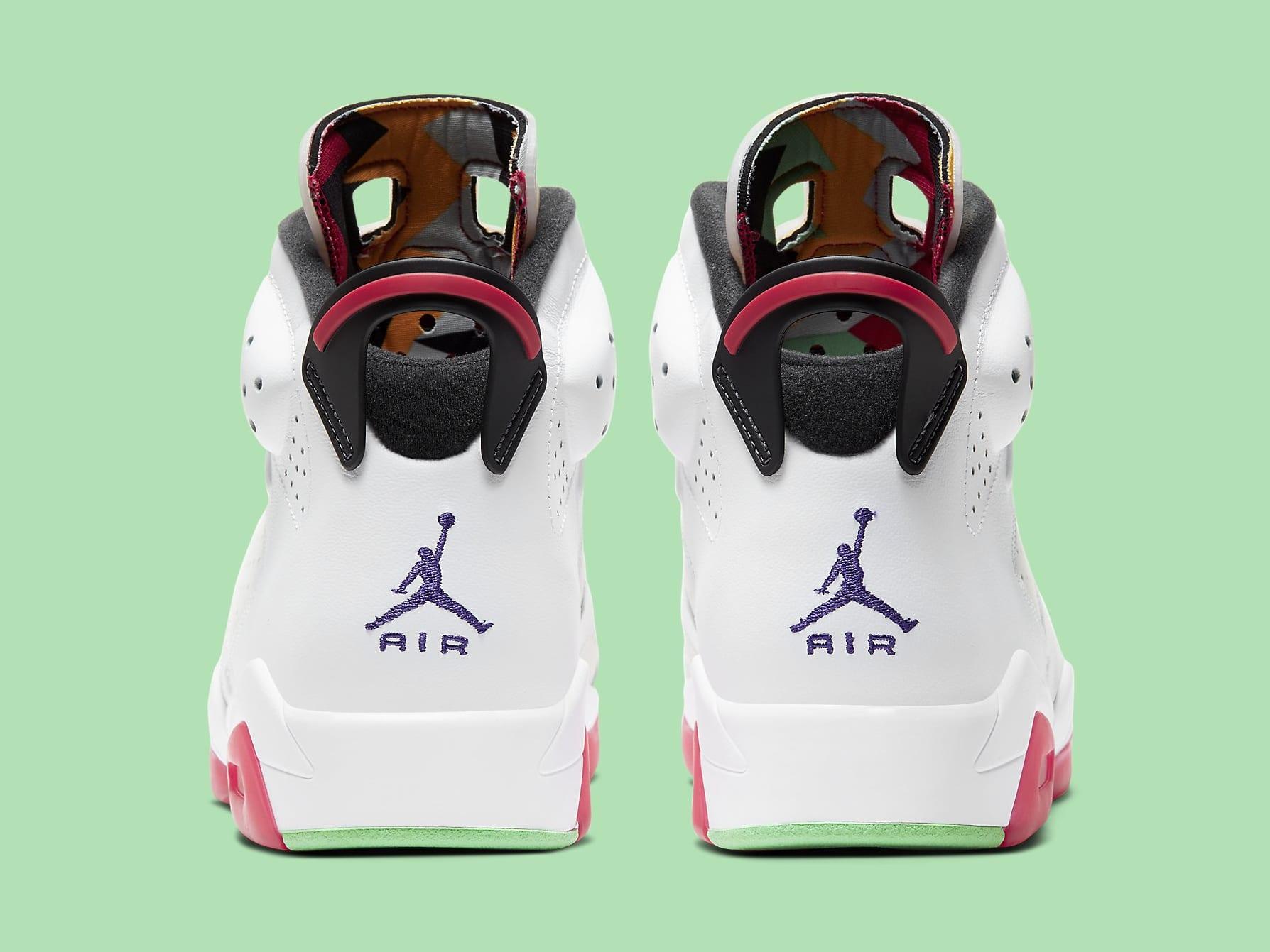 Air Jordan 6 Hare Release Date CT8529-062 Heel