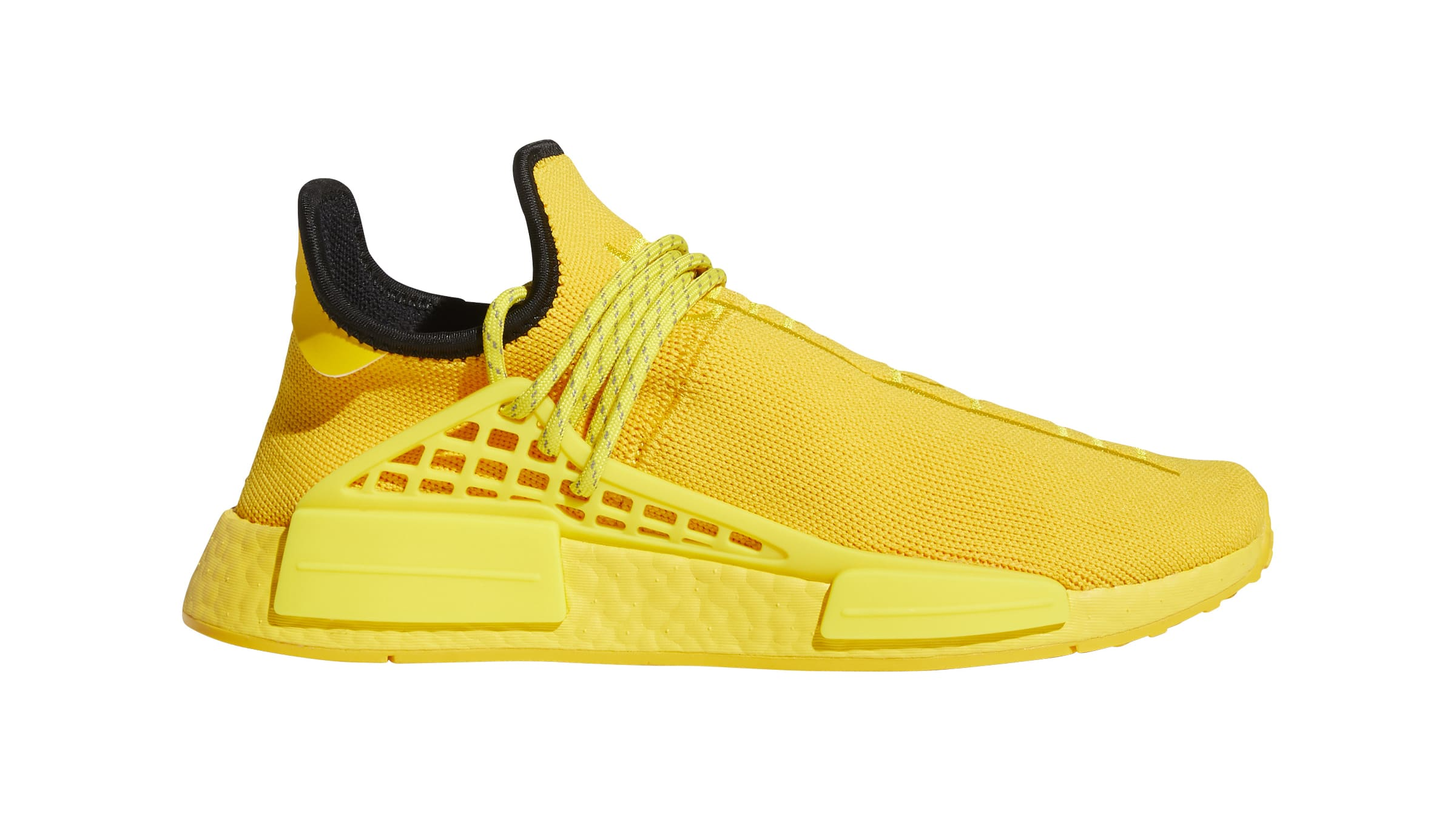 Pharrell x Adidas NMD Hu 'Yellow' GY0091 Lateral