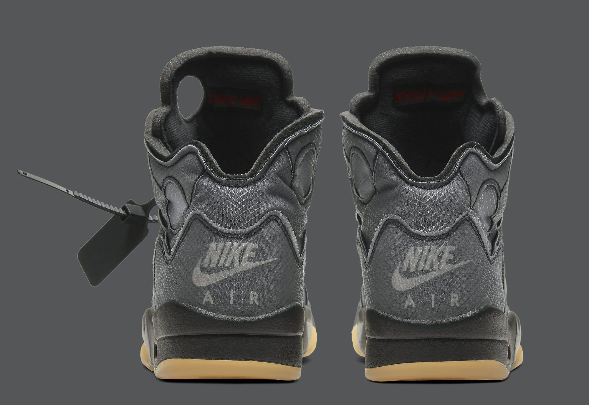 Off-White x Air Jordan 5 CT8480-001 (Heel)