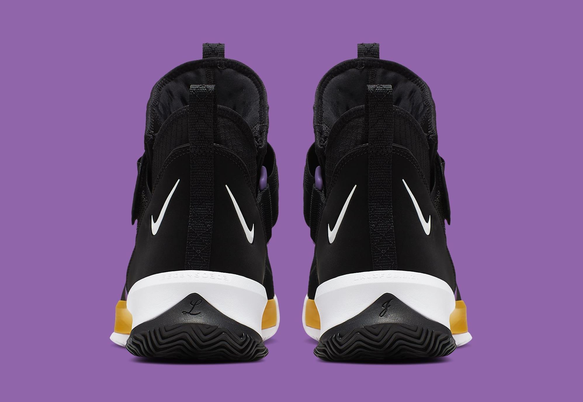 Nike LeBron Soldier 13 Lakers Release Date AR4228-004 Heel