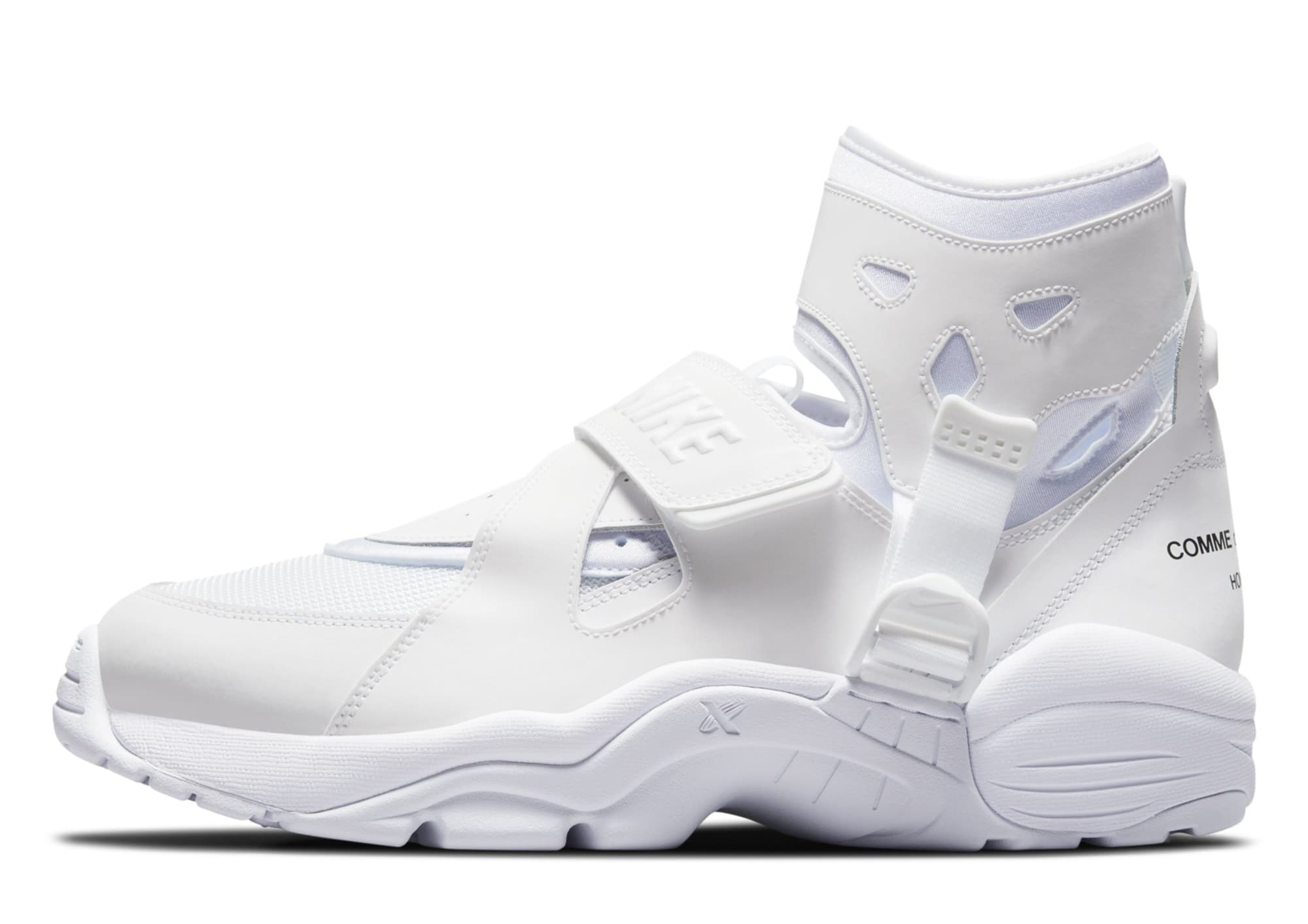 Comme des Garcons Homme Plus x Nike Air Carnivore 'White' (Lateral)