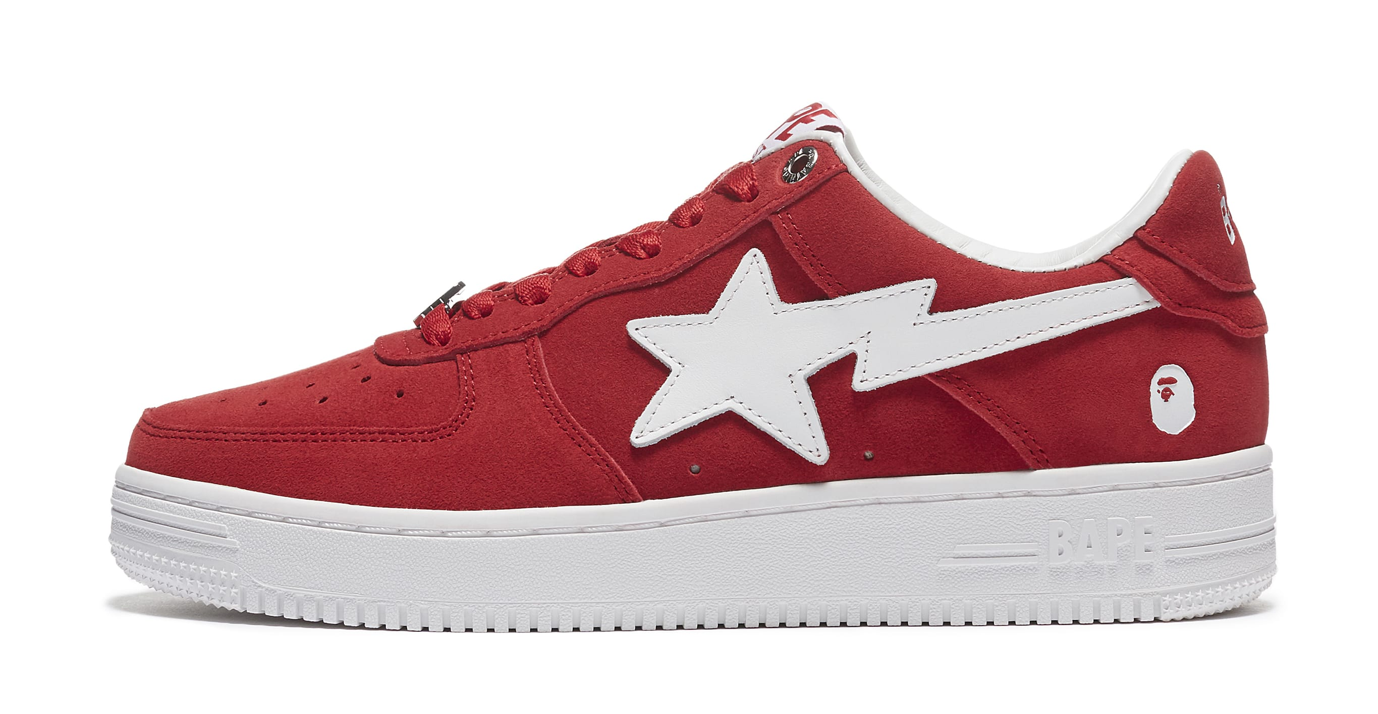Bape Sta Suede 'Red' Lateral
